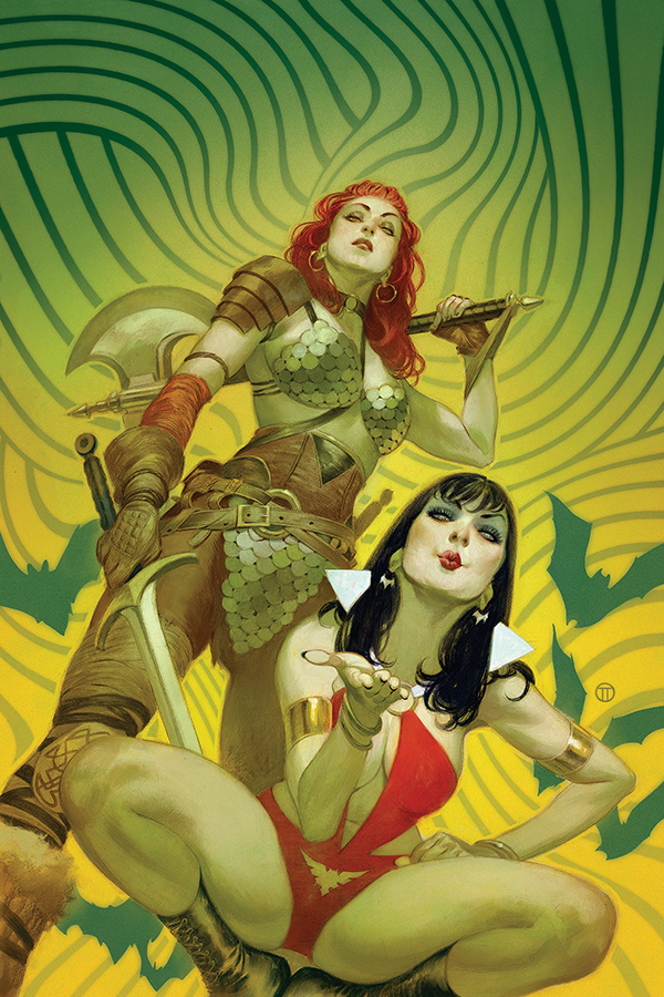 VAMPIRELLA RED SONJA #1 TEDESCO VIRGIN CVR