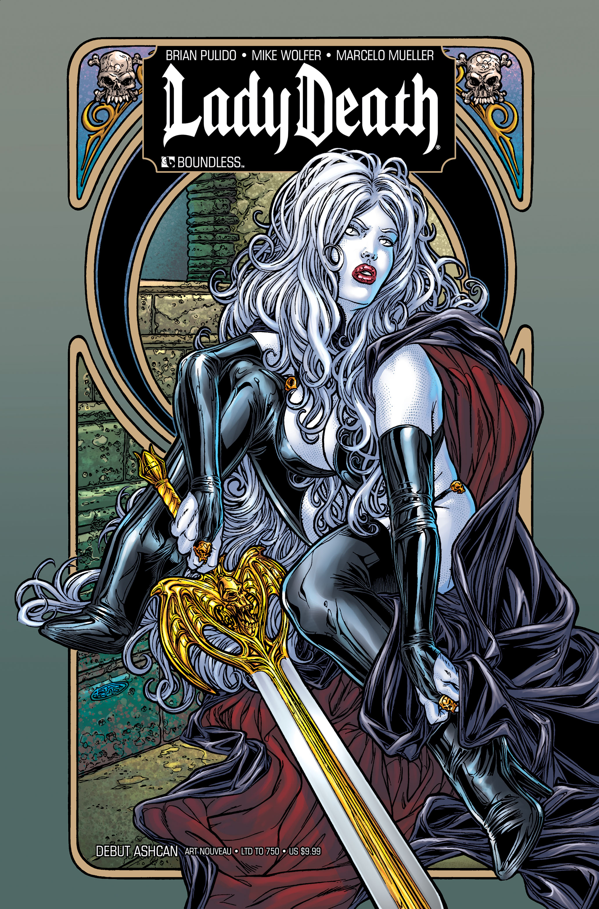 LADY DEATH DEBUT ASHCAN ART NOUVEAU (MR)