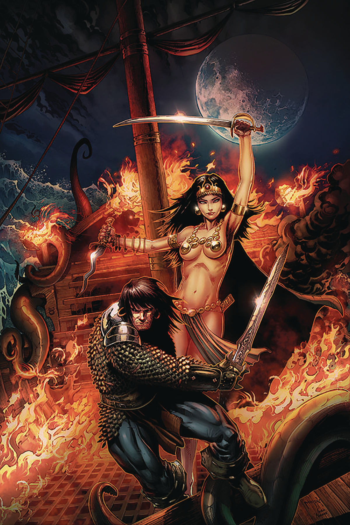 CIMMERIAN QUEEN OF BLACK COAST #1 CVR A JASON METCALF (MR)