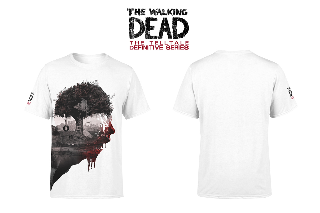 TELLTALE WALKING DEAD WALKER SCREAM T/S XL