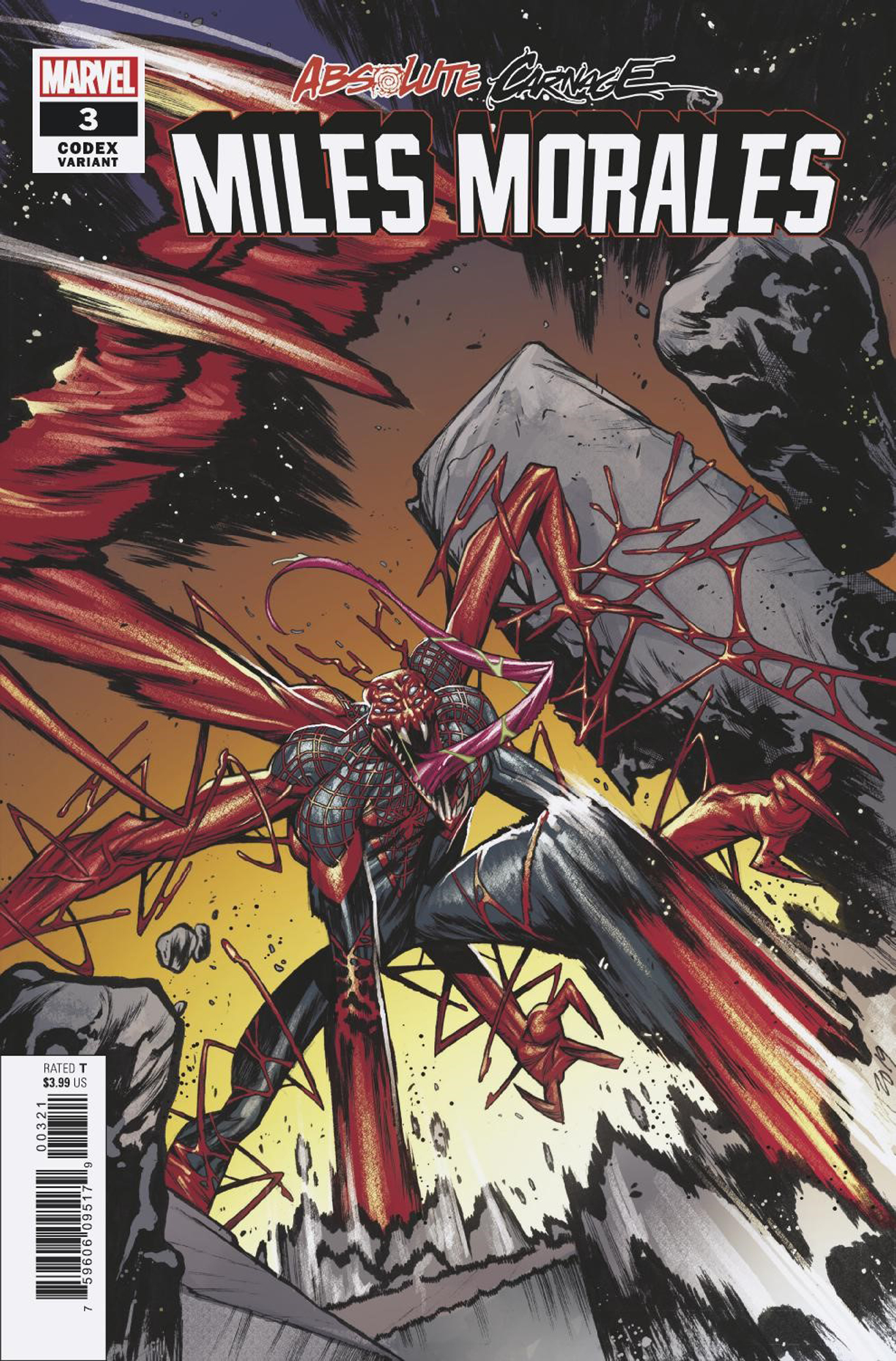 ABSOLUTE CARNAGE MILES MORALES #3 (OF 3) JACINTO CODEX VAR A