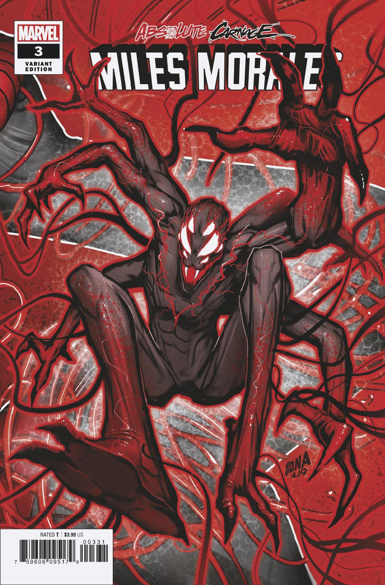 ABSOLUTE CARNAGE MILES MORALES #3 (OF 3) NAKAYAMA CONNECTING