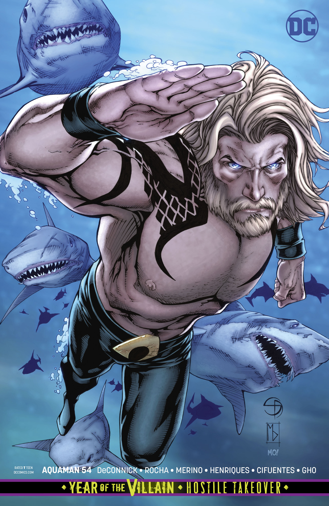 AQUAMAN #54 CARD STOCK VAR ED YOTV