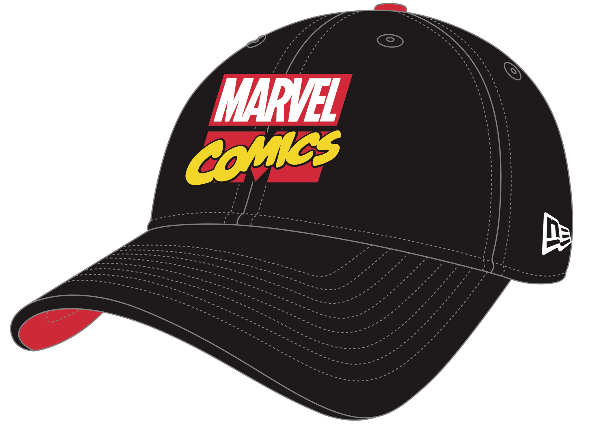MARVEL COMICS LOGO 80TH ANNIVERSARY PX FLEXFIT CAP