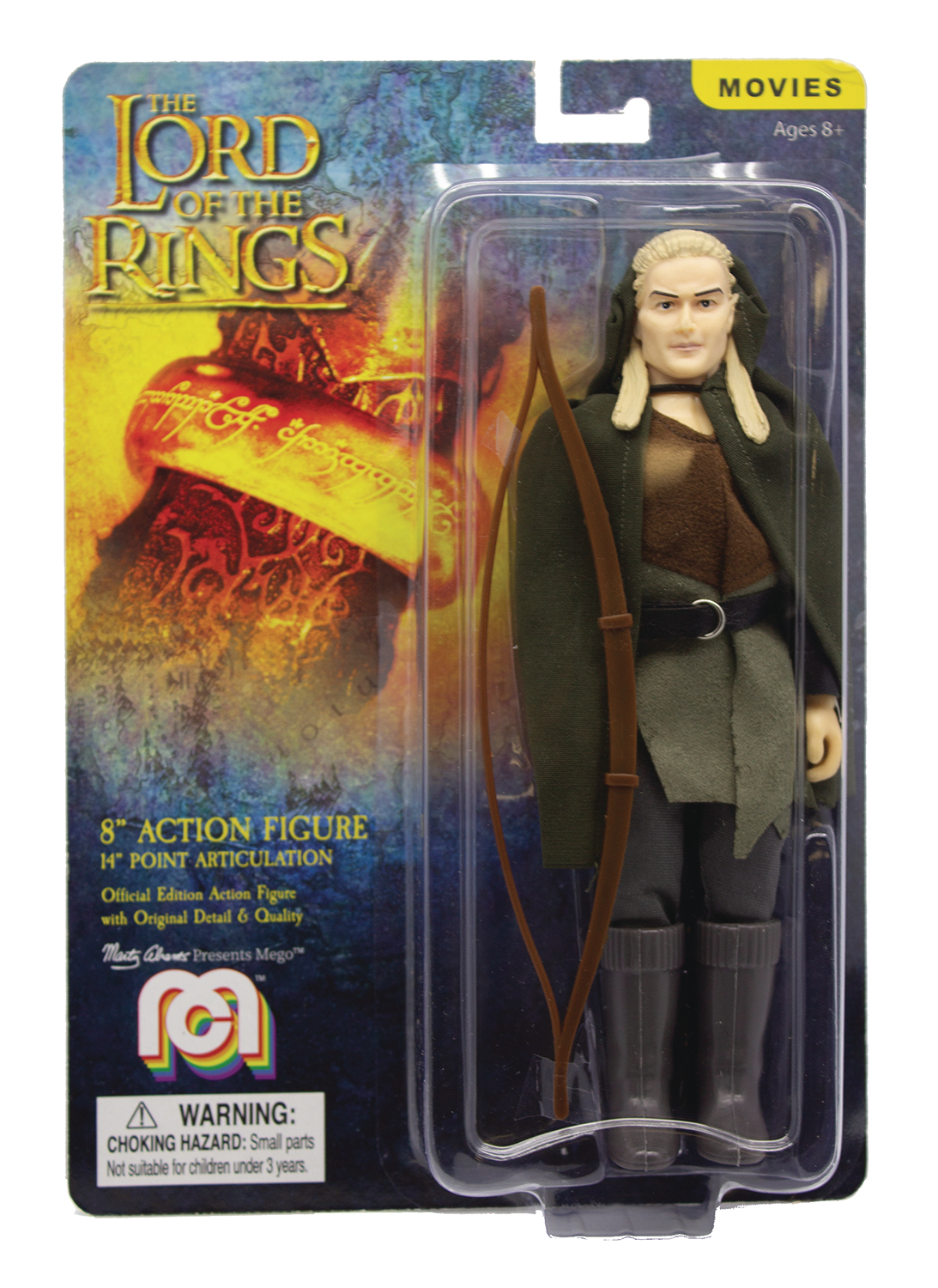 MEGO MOVIES WAVE 7 LORD OF THE RINGS LEGOLAS 8IN AF