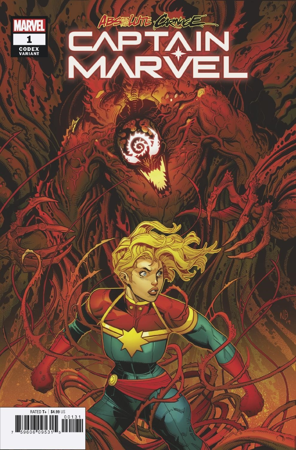 ABSOLUTE CARNAGE CAPTAIN MARVEL #1 CODEX VAR AC