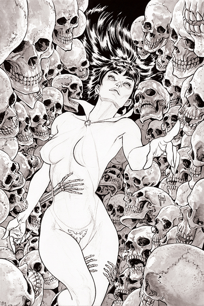 VAMPIRELLA #3 11 COPY MARCH B&W VIRGIN FOC INCV