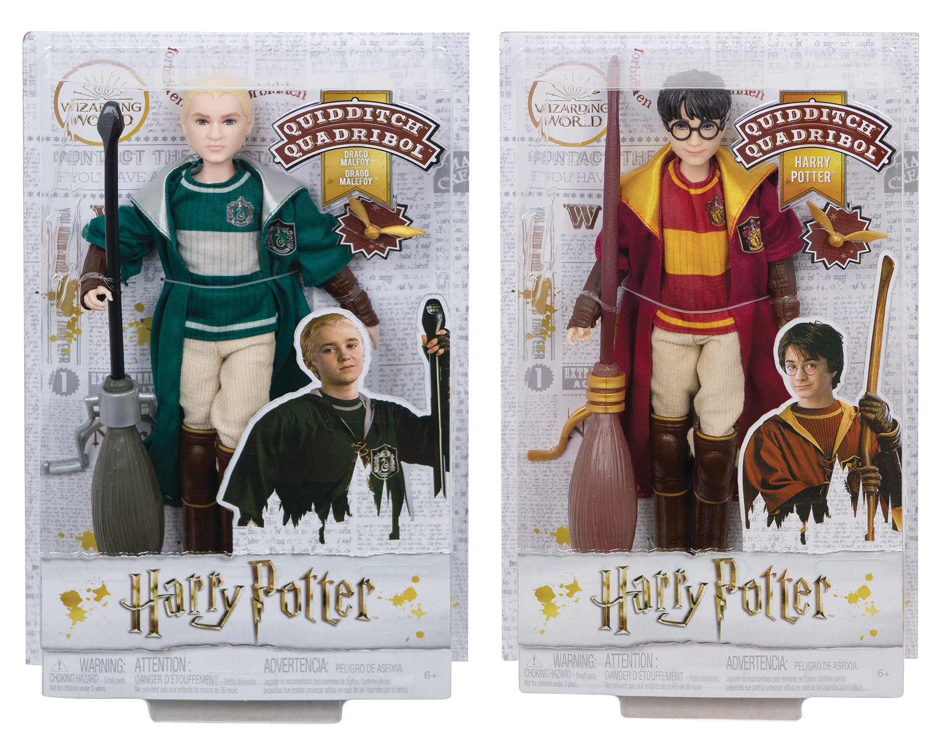 HARRY POTTER 7IN SCALE QUIDDITCH DOLL ASST