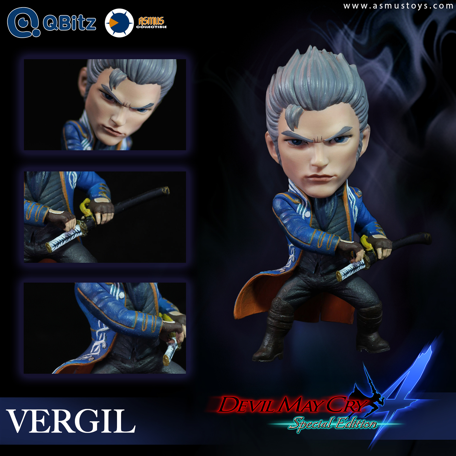 DEVIL MAY CRY 4 QBITZ VERGIL LIMITED ARTICULATION FIG