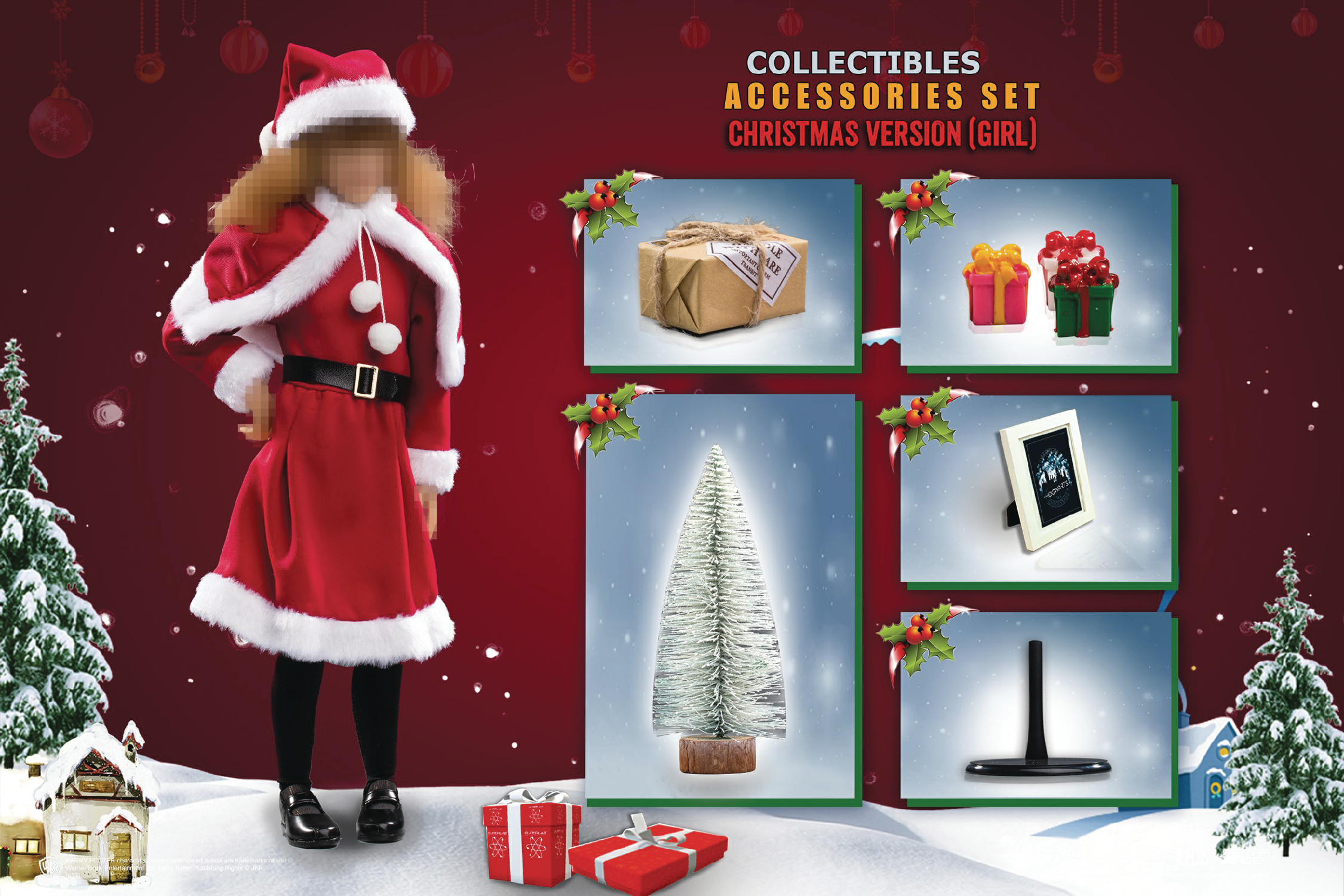 HP SORCERERS STONE 1/6 XMAS ACCESSORY PACK GIRL VER  (C