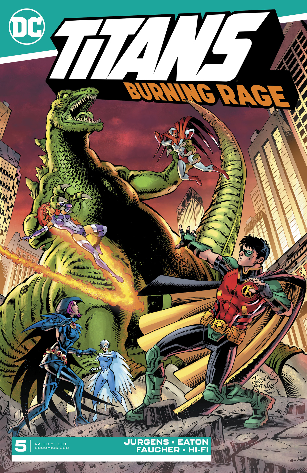 TITANS BURNING RAGE #5 (OF 7)