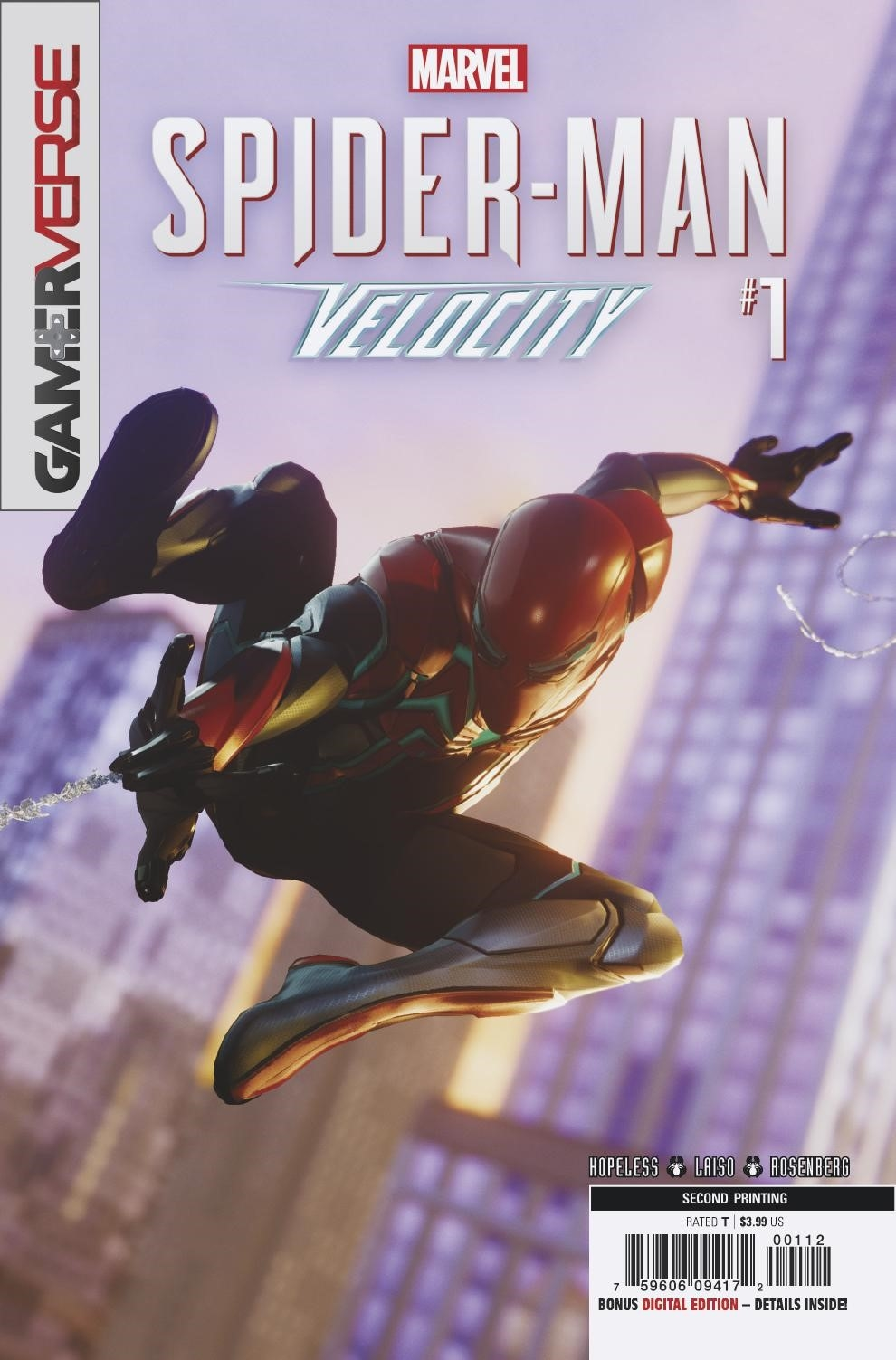 SPIDER-MAN VELOCITY #1 (OF 5) 2ND PTG VAR