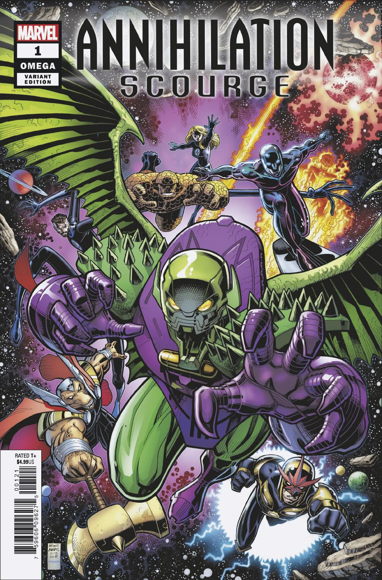 ANNIHILATION SCOURGE OMEGA #1 ART ADAMS VAR