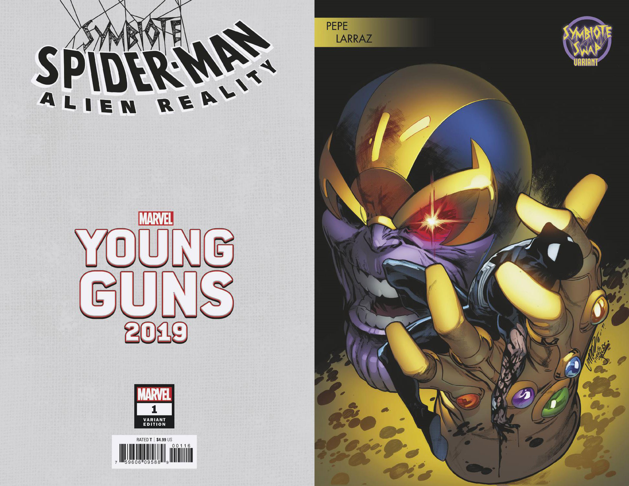 SYMBIOTE SPIDER-MAN ALIEN REALITY #1 (OF 5) LARRAZ YOUNG GUN