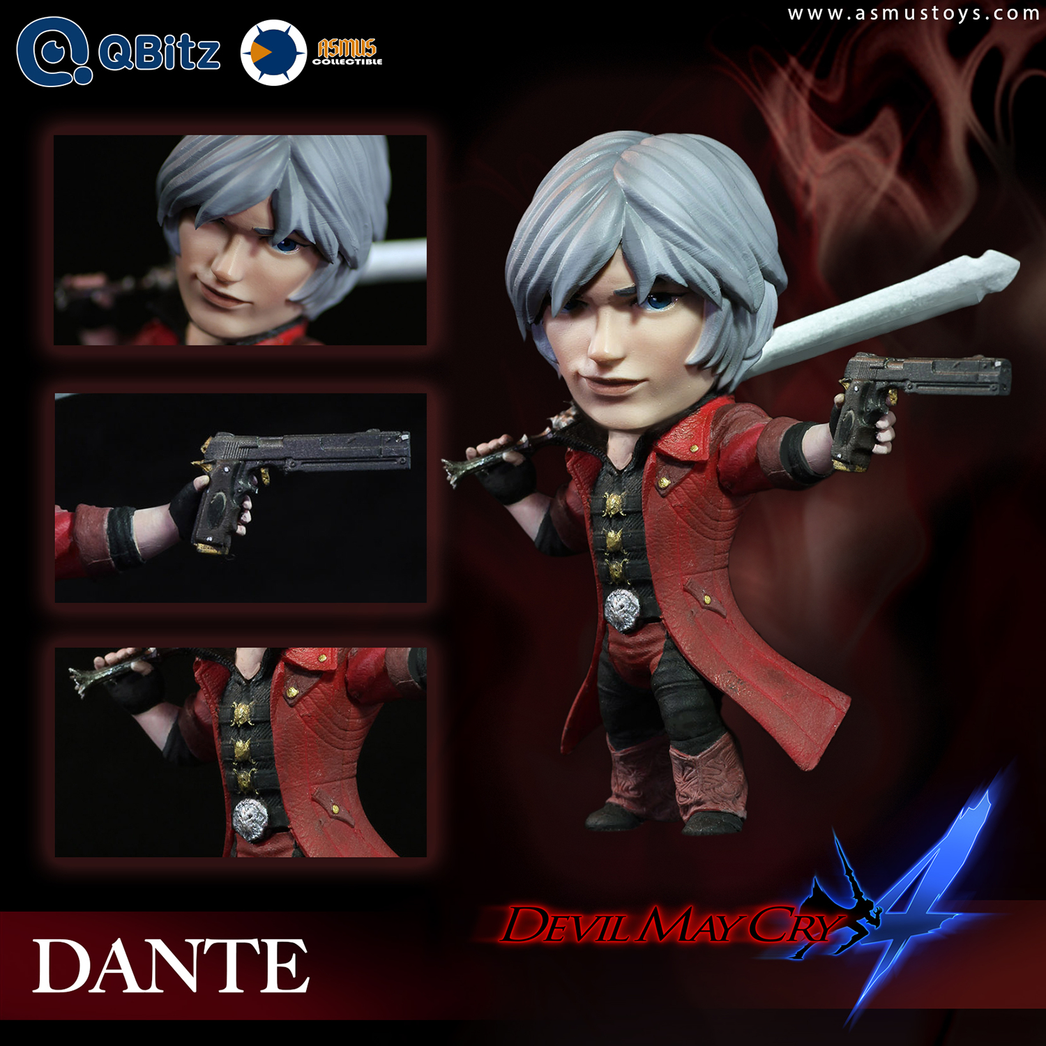 DEVIL MAY CRY 4 QBITZ DANTE LIMITED ARTICULATION FIG
