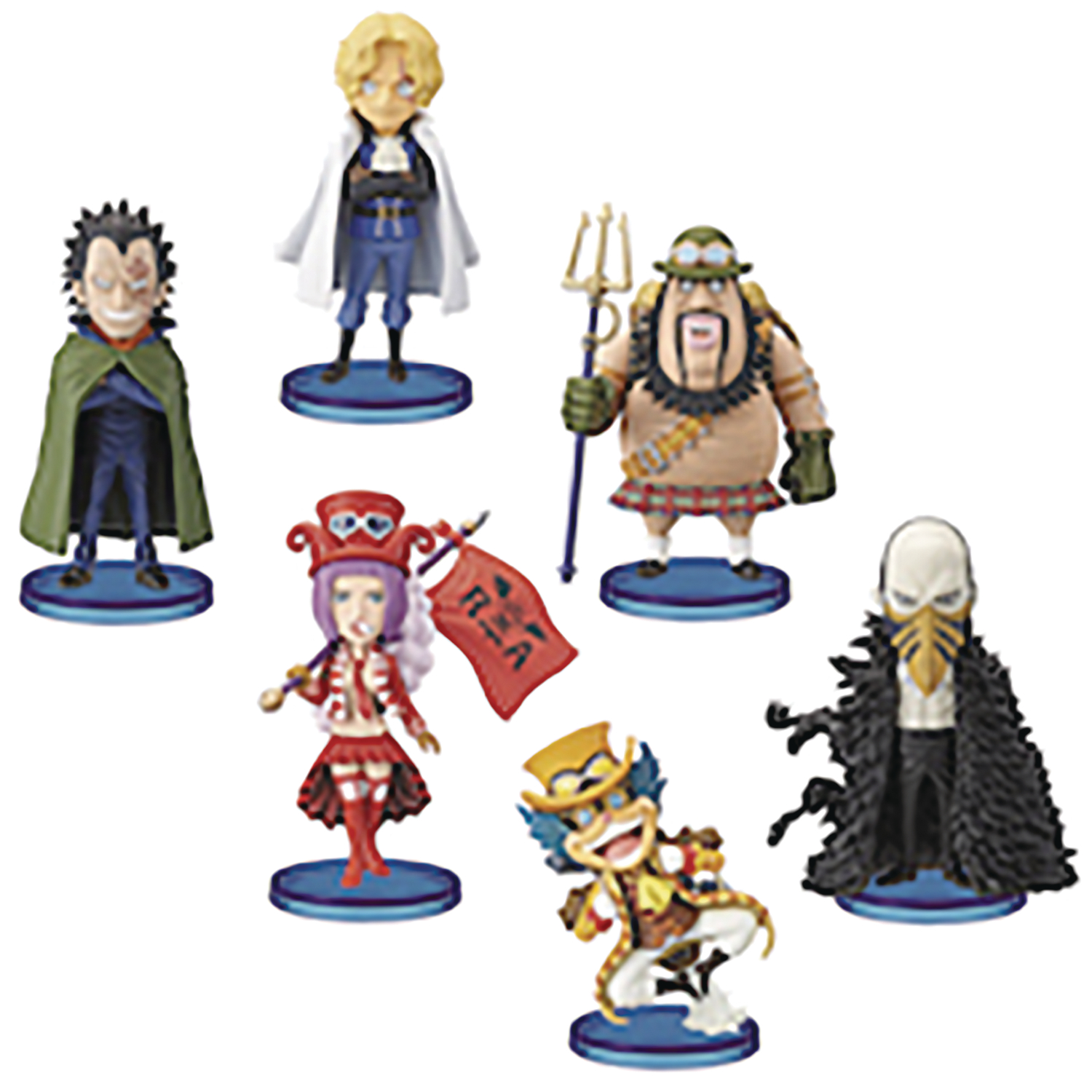 ONE PIECE WORLD REVOLUTIONARY ARMY COLL 6PC BMB FIG ASST