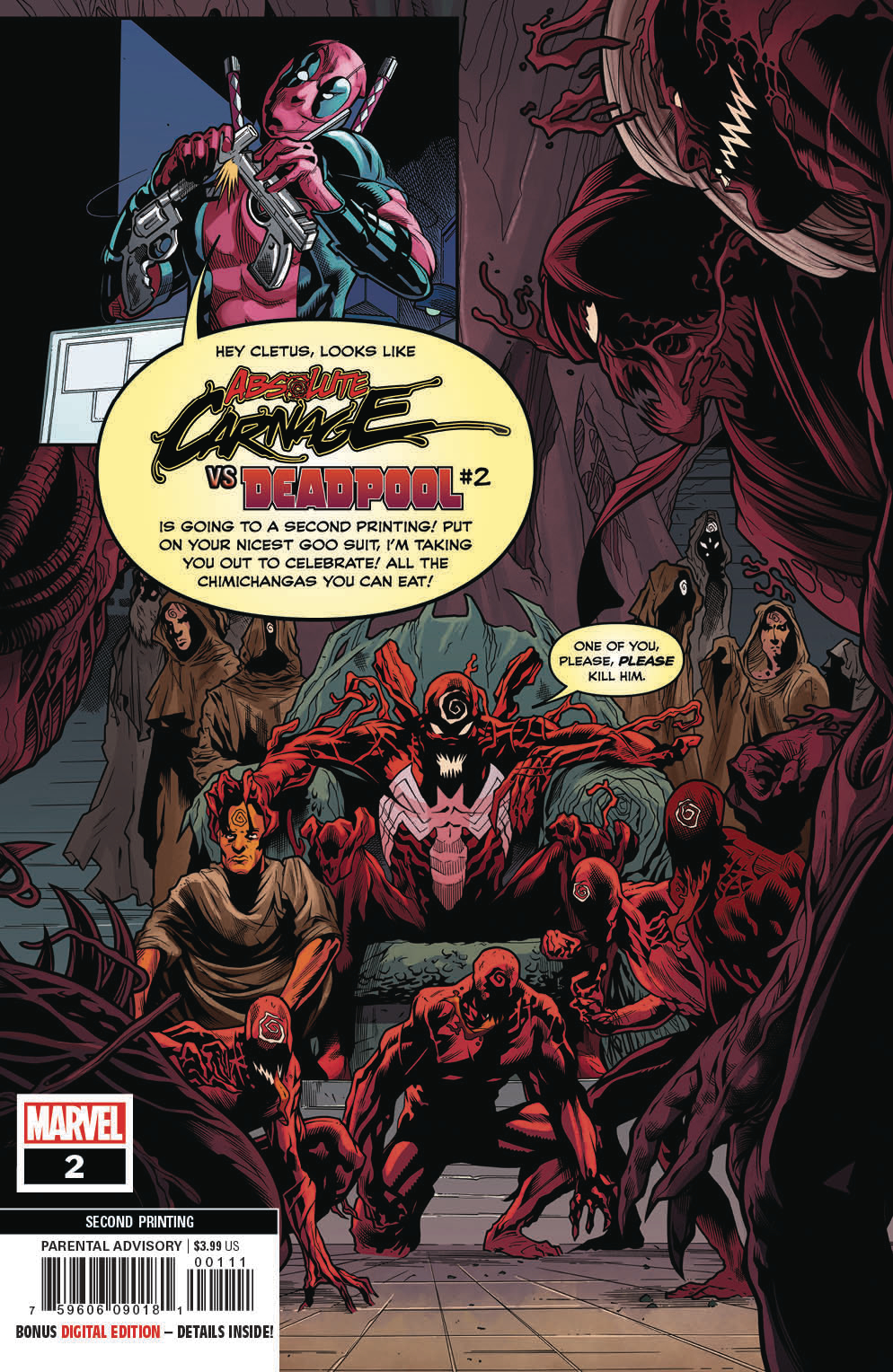 ABSOLUTE CARNAGE VS DEADPOOL #2 (OF 3) 2ND PTG VAR AC