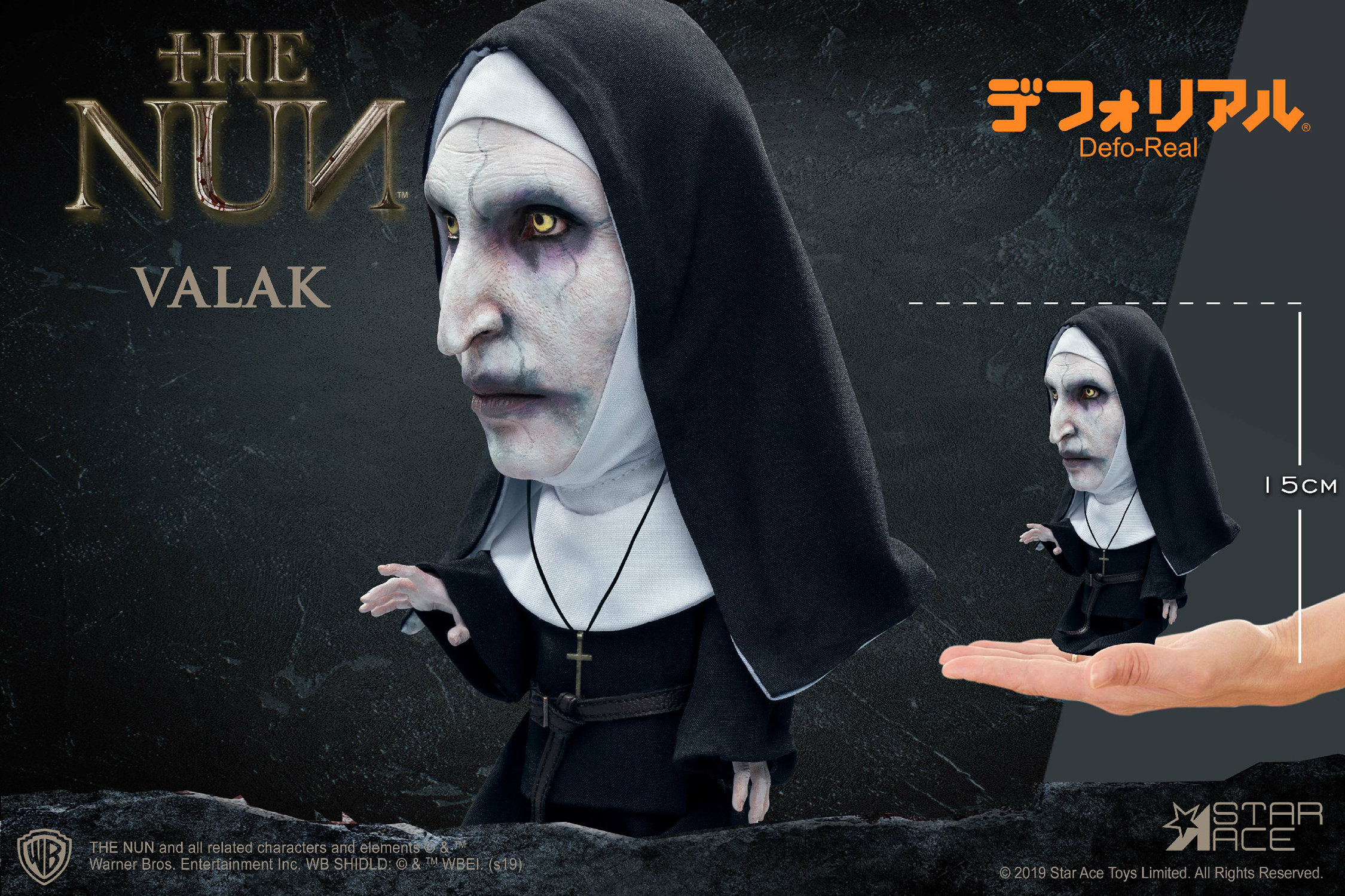THE NUN VALAK CLOSED MOUTH DEFO REAL SOFT VINYL STATUE