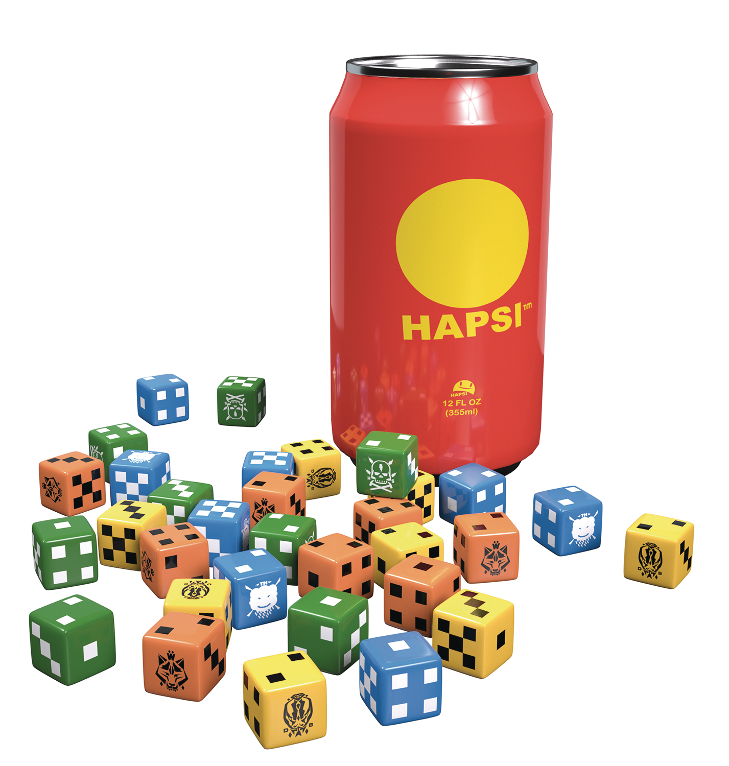 GIANT KILLER ROBOTS HAPSI CAN & FACTION DICE ORIGINAL FLAVOR