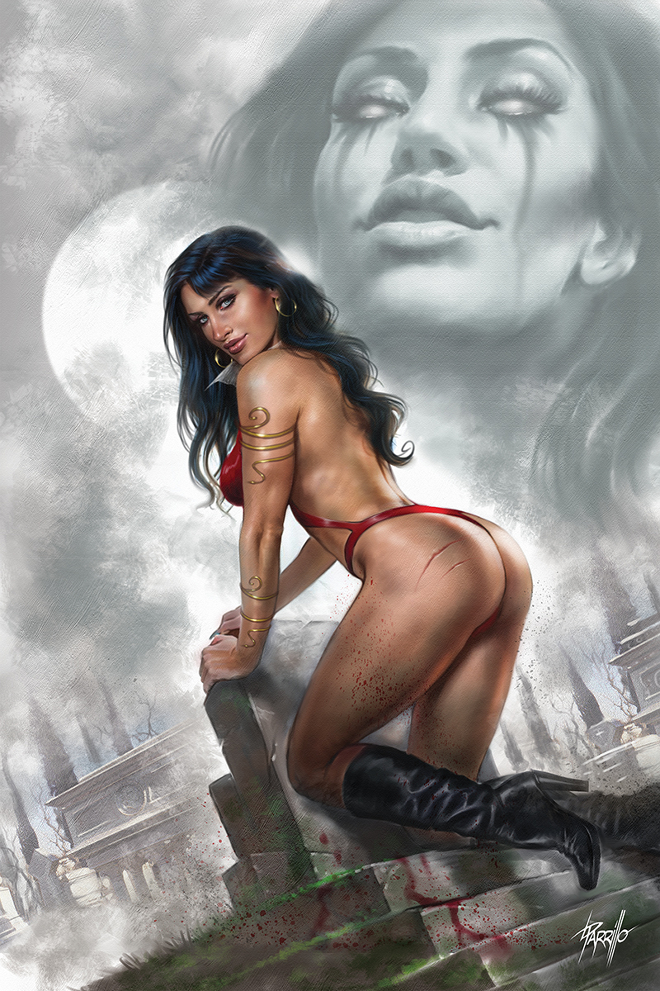 VENGEANCE OF VAMPIRELLA #4 PARRILLO LTD VIRGIN CVR