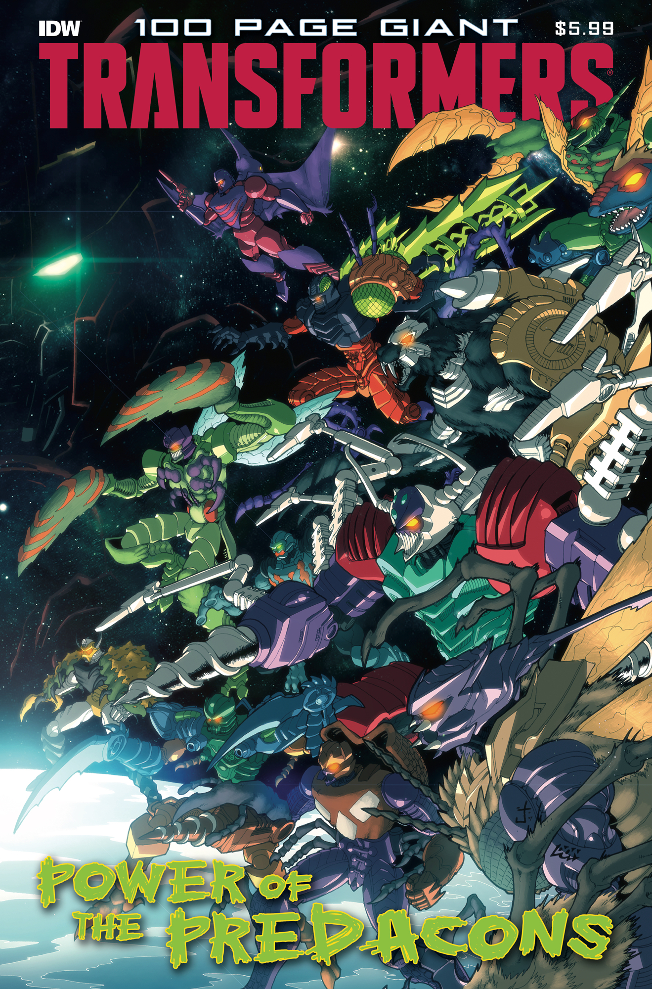 TRANSFORMERS 100 PAGE GIANT POWER PREDACONS