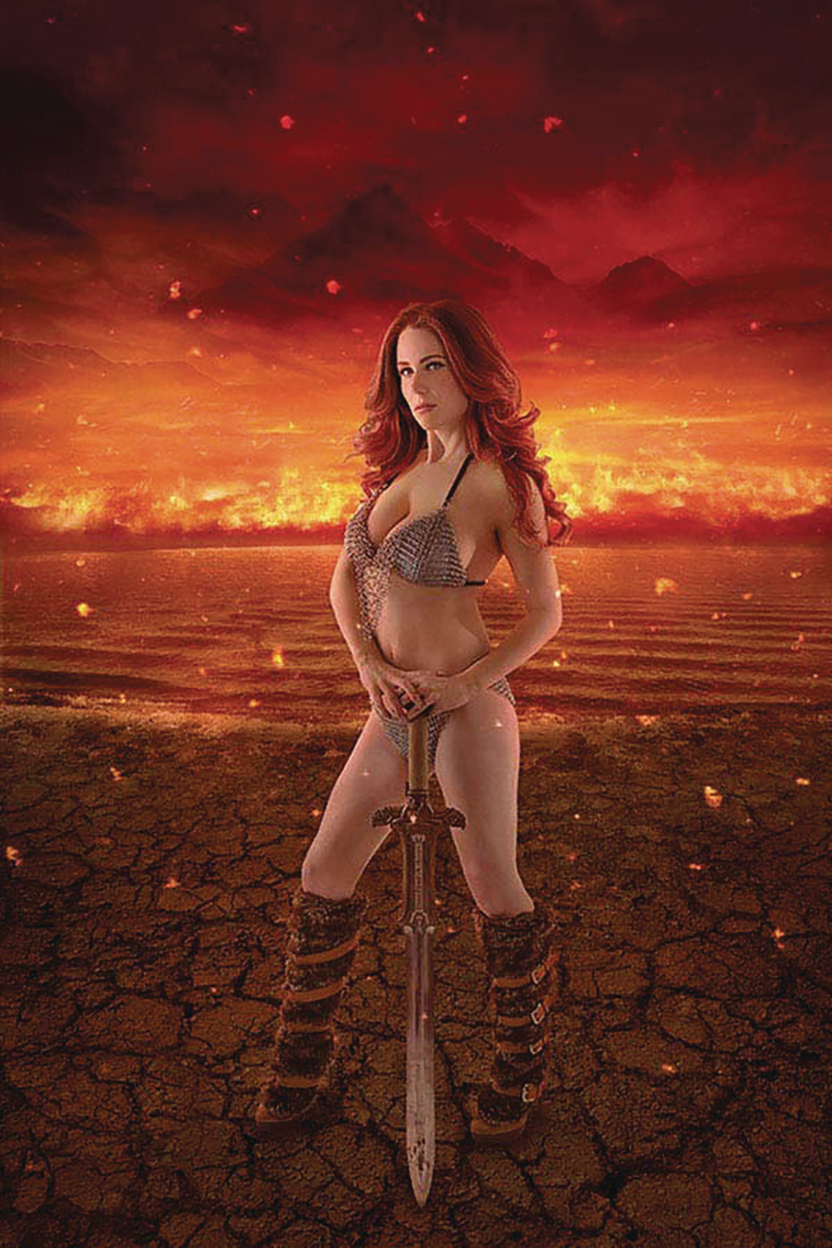 RED SONJA AGE OF CHAOS #1 KINGSTON SGN COSPLAY CVR