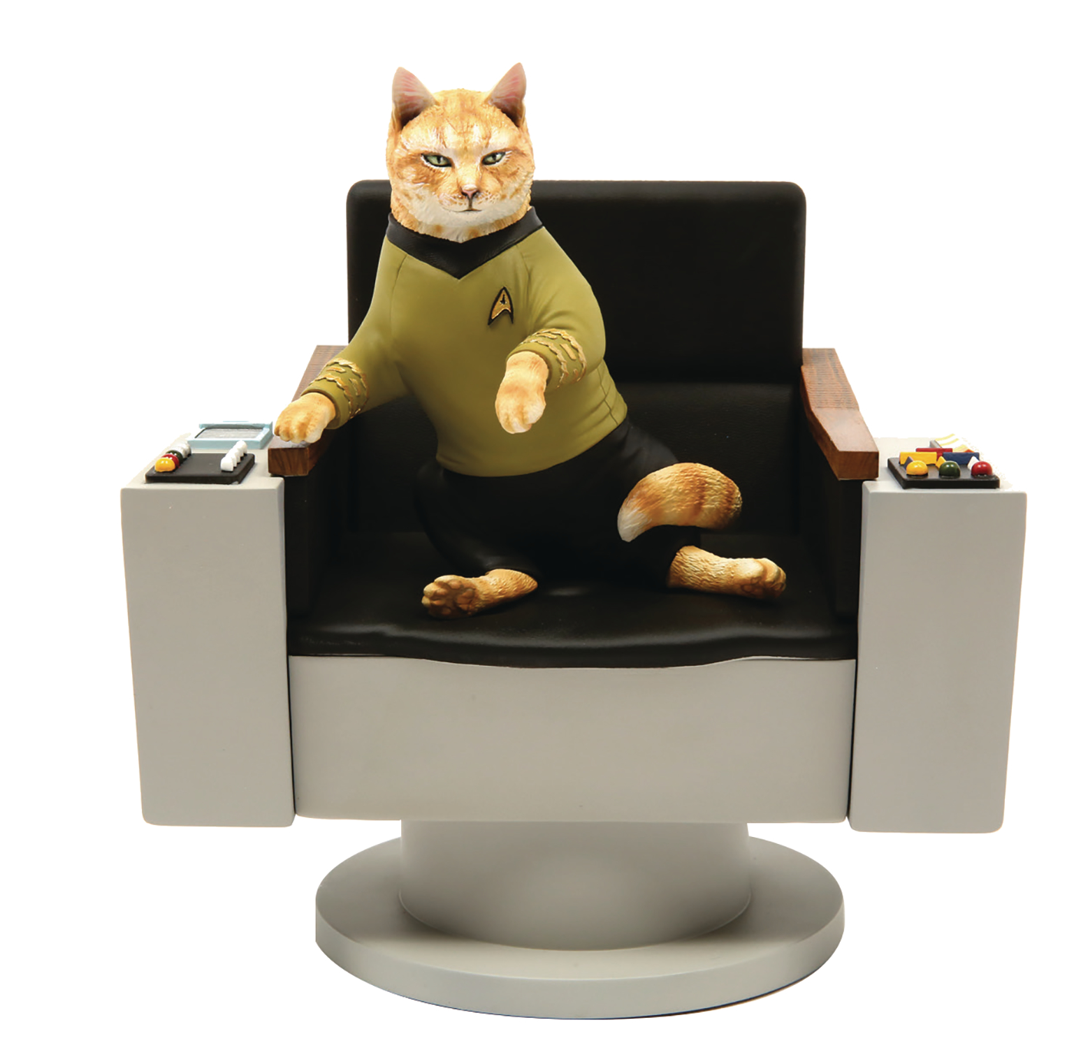 STAR TREK TOS CAPT KIRK CAT POLYSTONE STATUE (AUG199073)