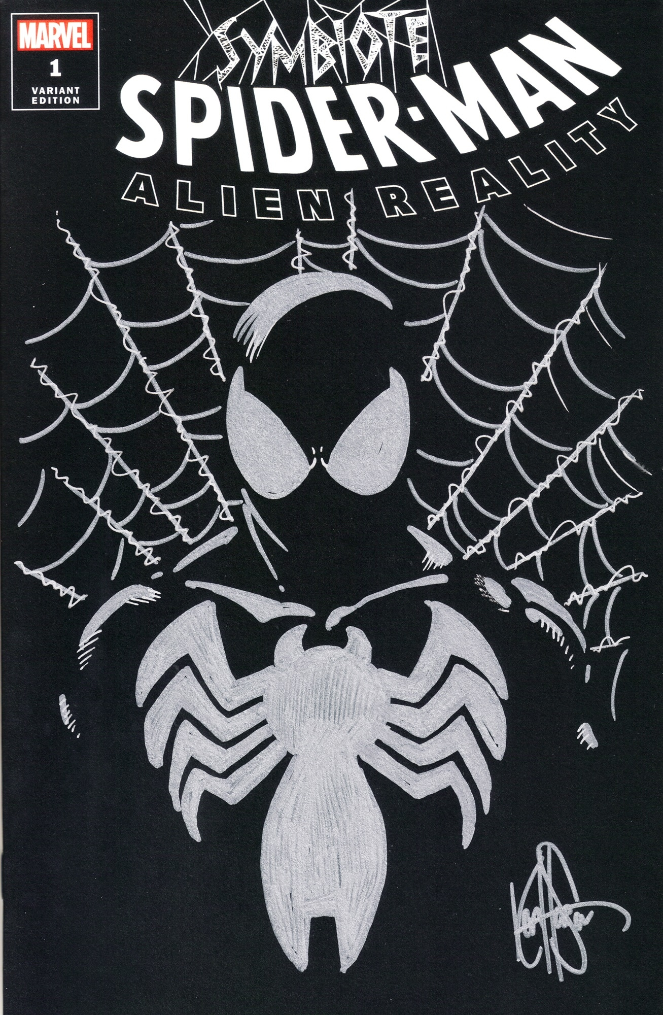 DF SYMBIOTE SPIDERMAN ALIEN REALITY SGN REMARK HAESER