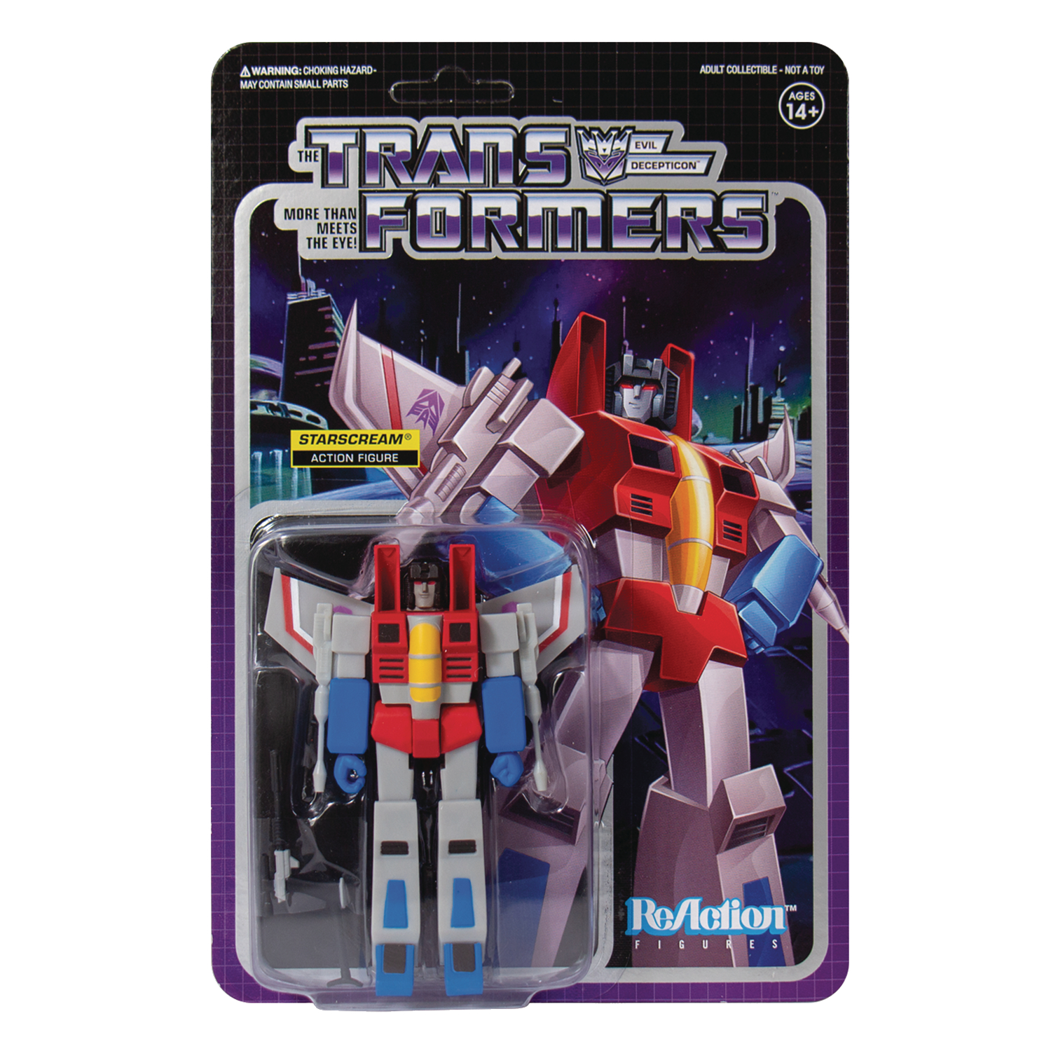 TRANSFORMERS STARSCREAM REACTION FIGURE