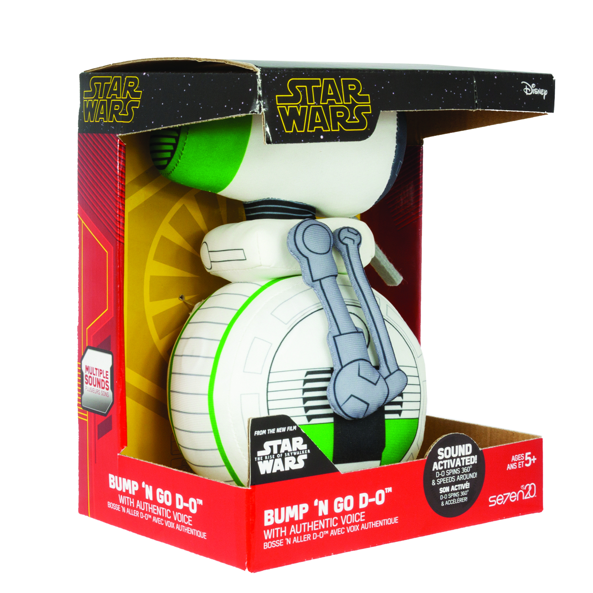 STAR WARS RISE OF SKYWALKER BUMP-N-GO D-O PLUSH