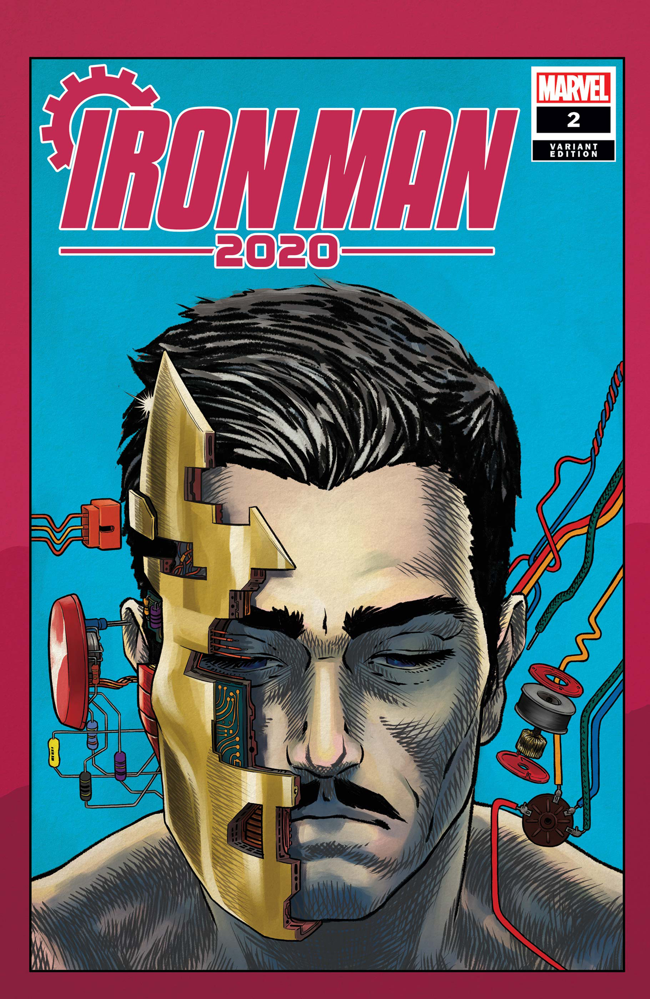 IRON MAN 2020 #2 (OF 6) SUPERLOG HEADS VAR