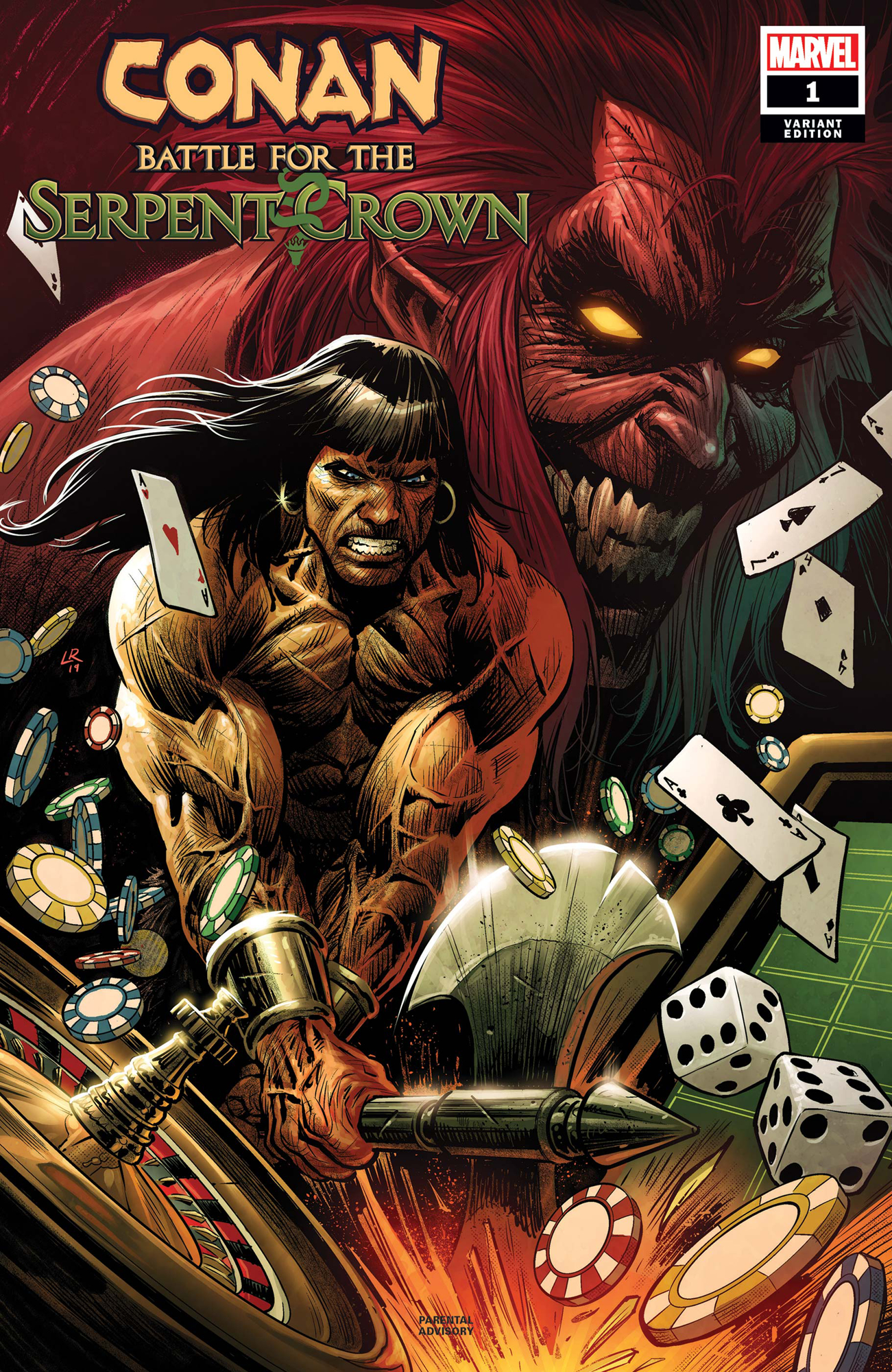 CONAN BATTLE FOR SERPENT CROWN #1 (OF 5) LUKE ROSS VAR