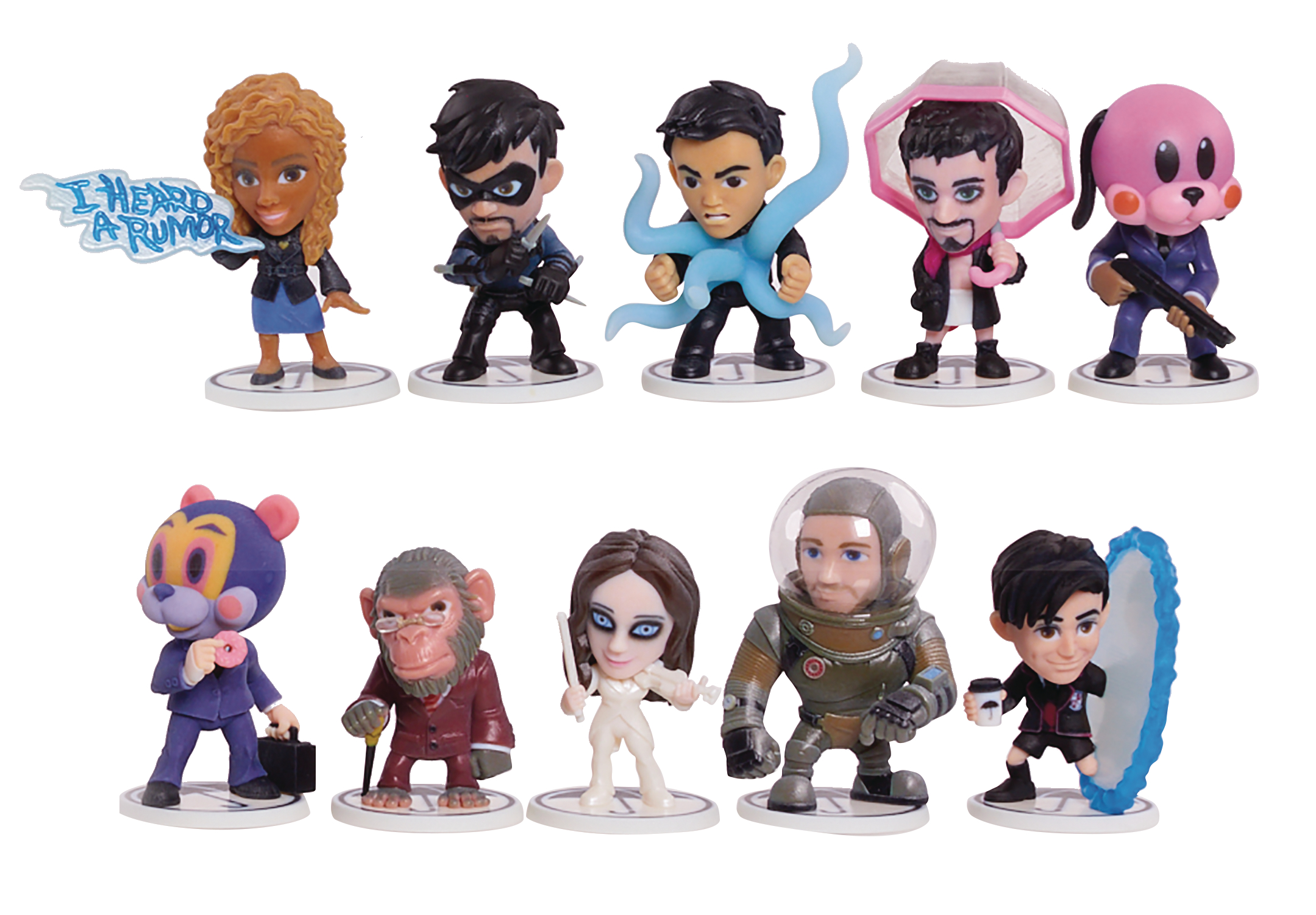 UMBRELLA ACADEMY 12PC CHIBI FIGURES SERIES 1 ASST