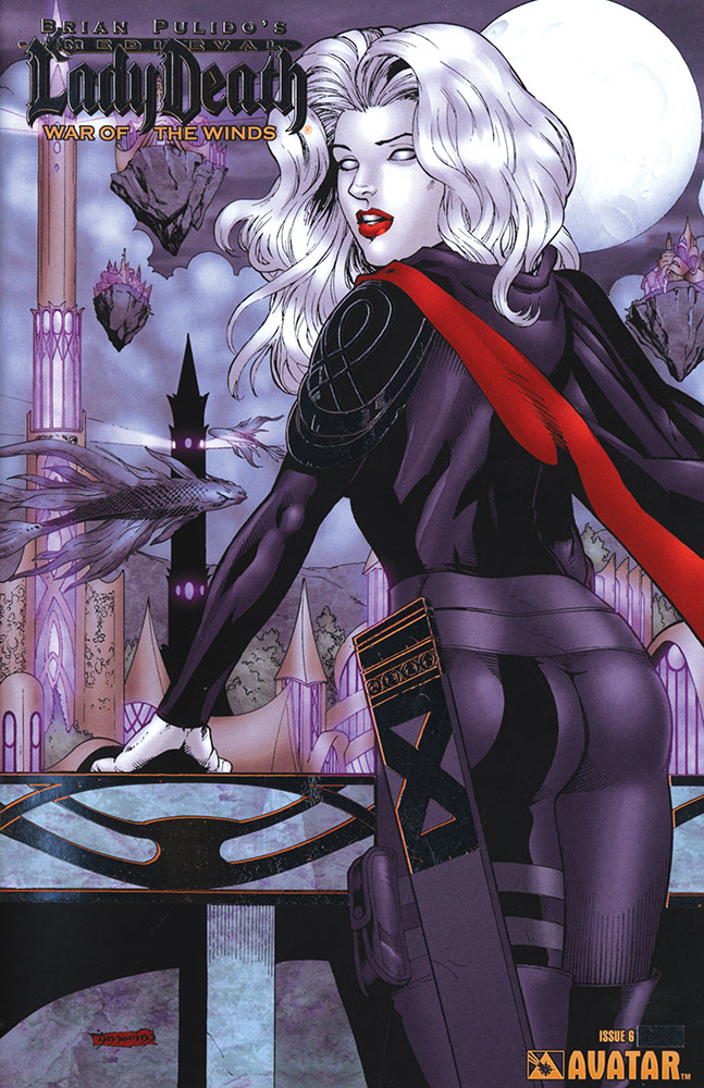 MEDIEVAL LADY DEATH WAR OF THE WINDS #6 PLATINUM FOIL VAR (M