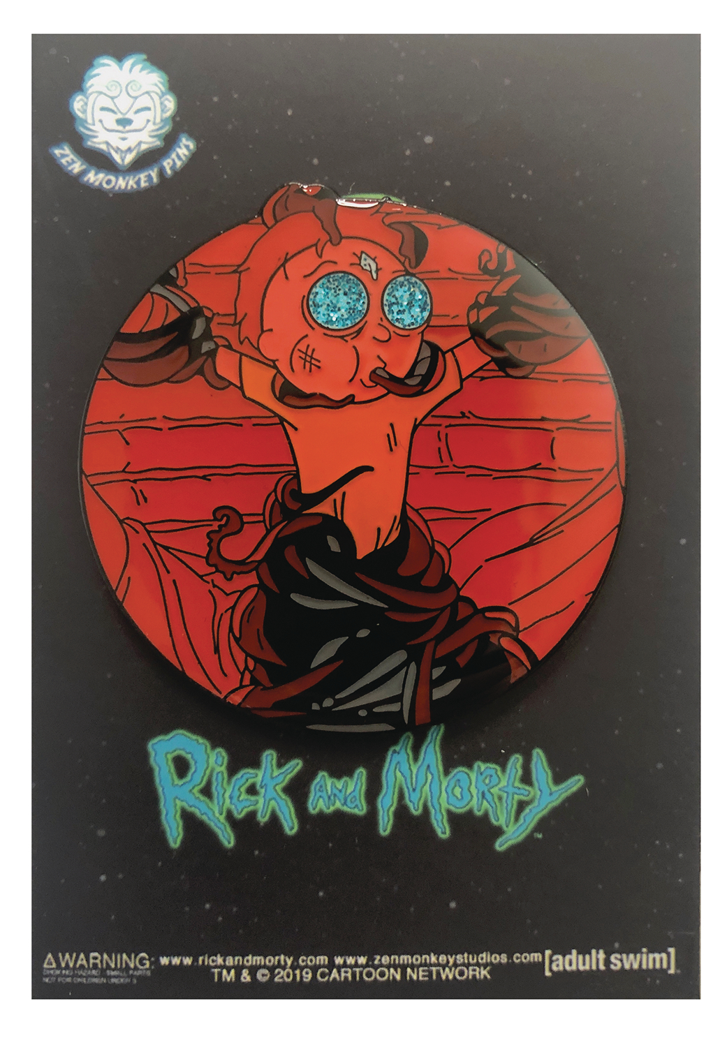 RICK AND MORTY DEATH CRYSTAL MORTY IN FORTRESS PIN