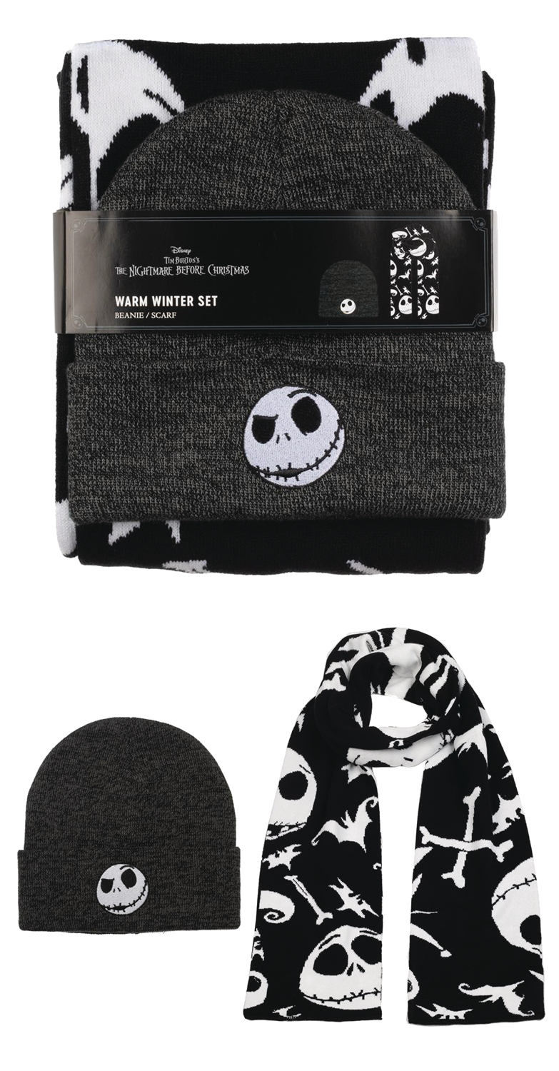 NIGHTMARE BEFORE CHRISTMAS BEANIE & SCARF COMBO