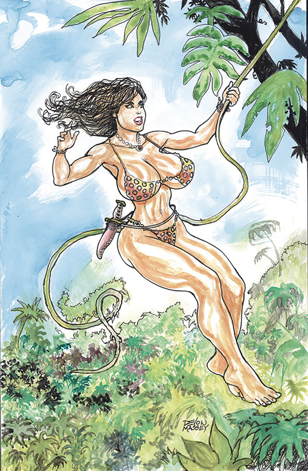 CAVEWOMAN DOUBLE FEATURE ONE SHOT CVR A MASSEY (MR)