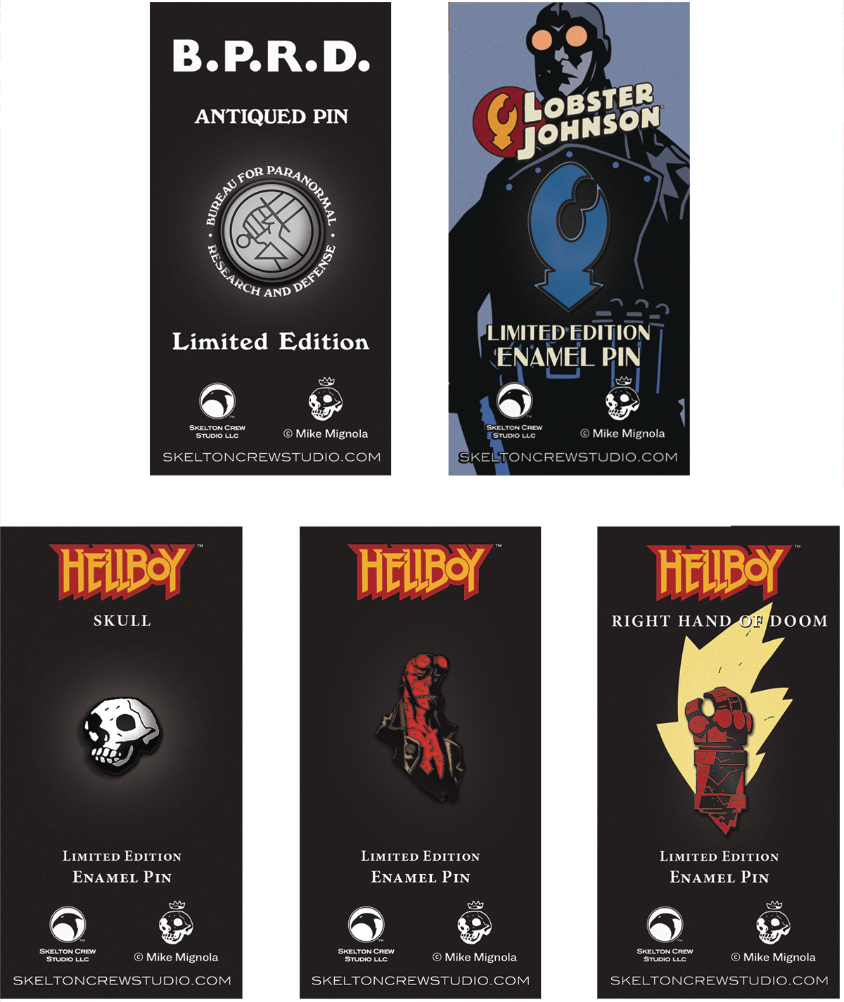 HELLBOY LTD ED ENAMEL PIN 10PC ASST