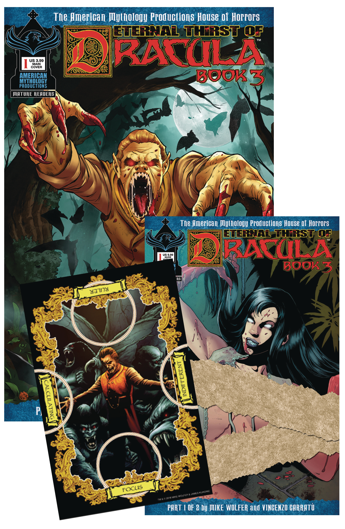 ETERNAL THIRST OF DRACULA 3 #1 SGND COLL SET (MR)