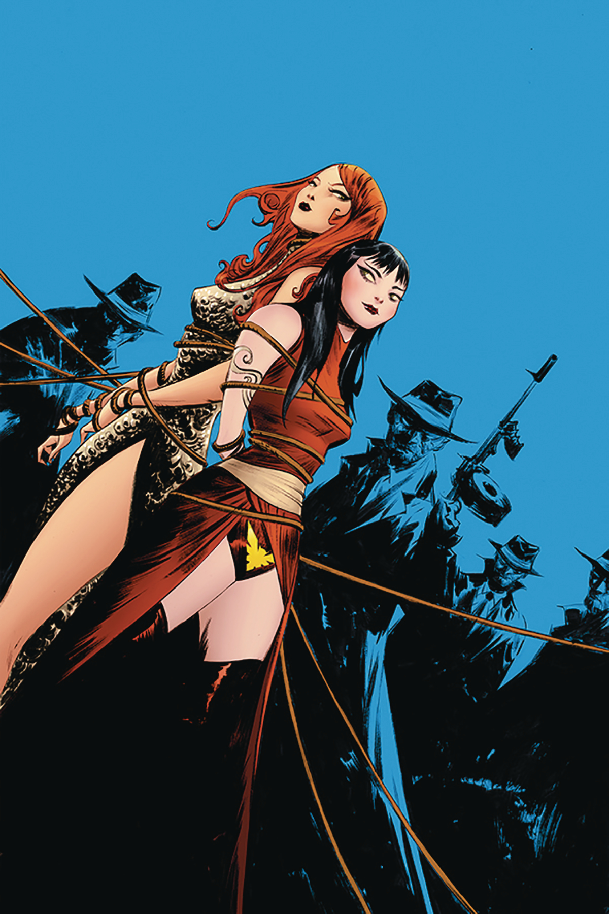 VAMPIRELLA RED SONJA #7 LEE LTD VIRGIN CVR