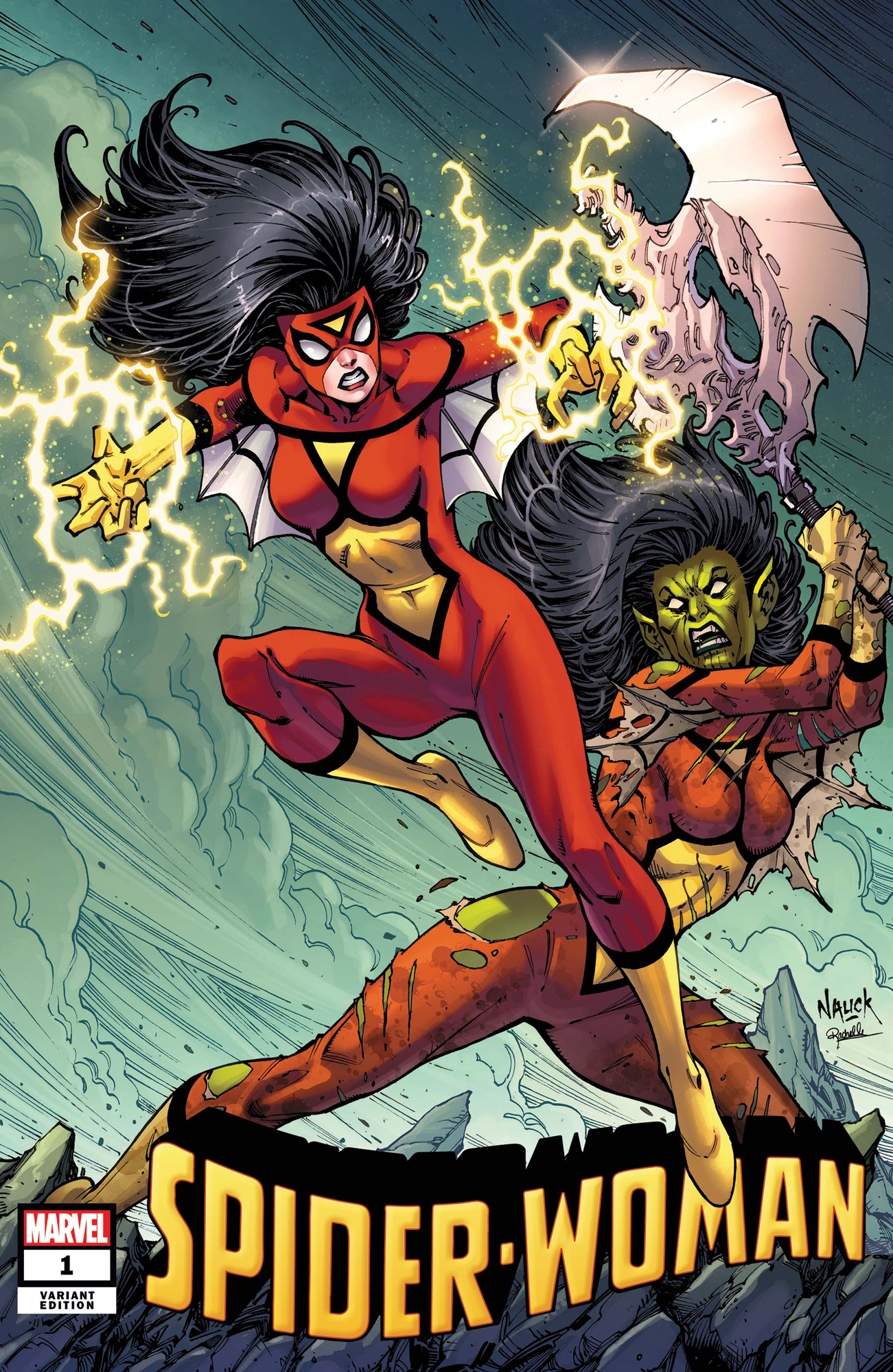 SPIDER-WOMAN #1 NAUCK VILLAINS VAR