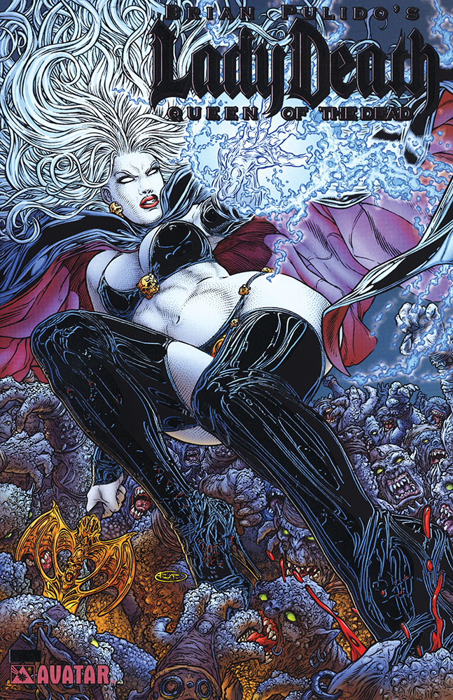 LADY DEATH QUEEN OF THE DEAD PLATINUM FOIL VAR (MR)