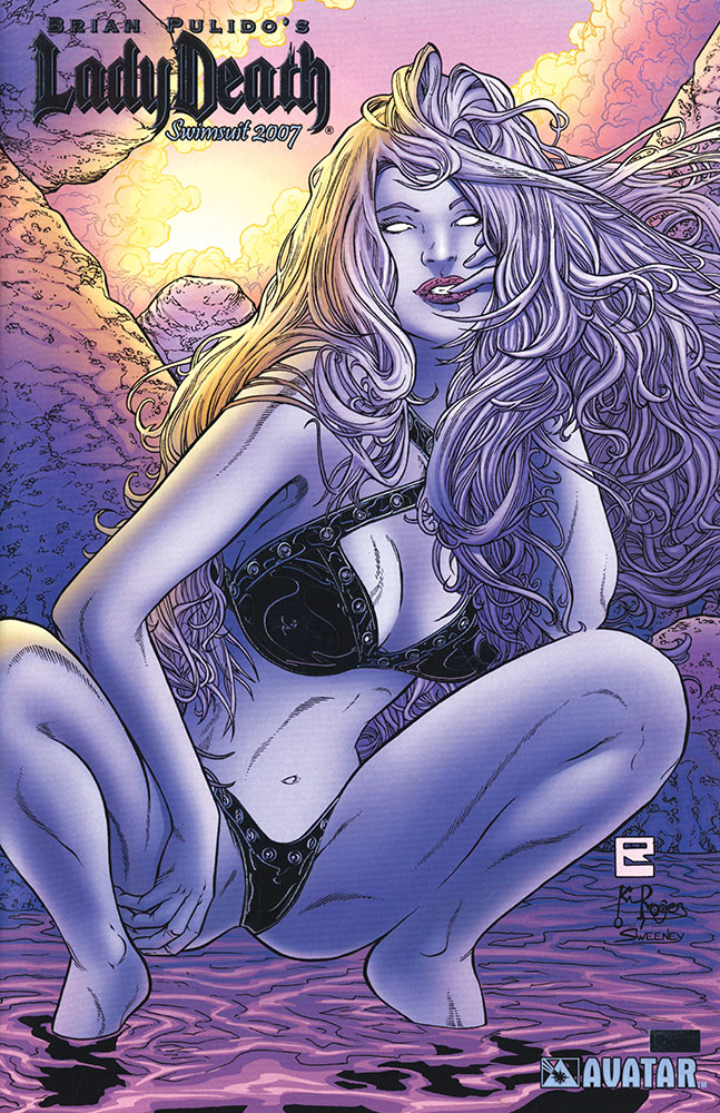 LADY DEATH SWIMSUIT 2007 PLATINUM FOIL VAR (MR)