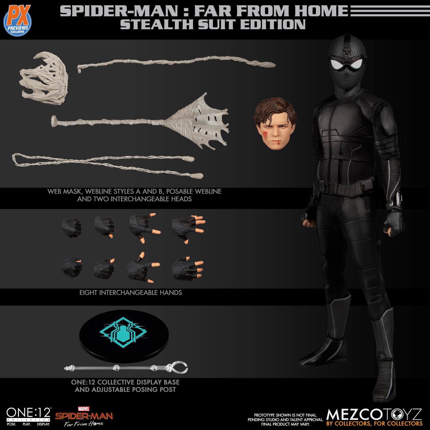 ONE-12 COLLECTIVE PX SPIDER-MAN STEALTH SUIT AF (Net)