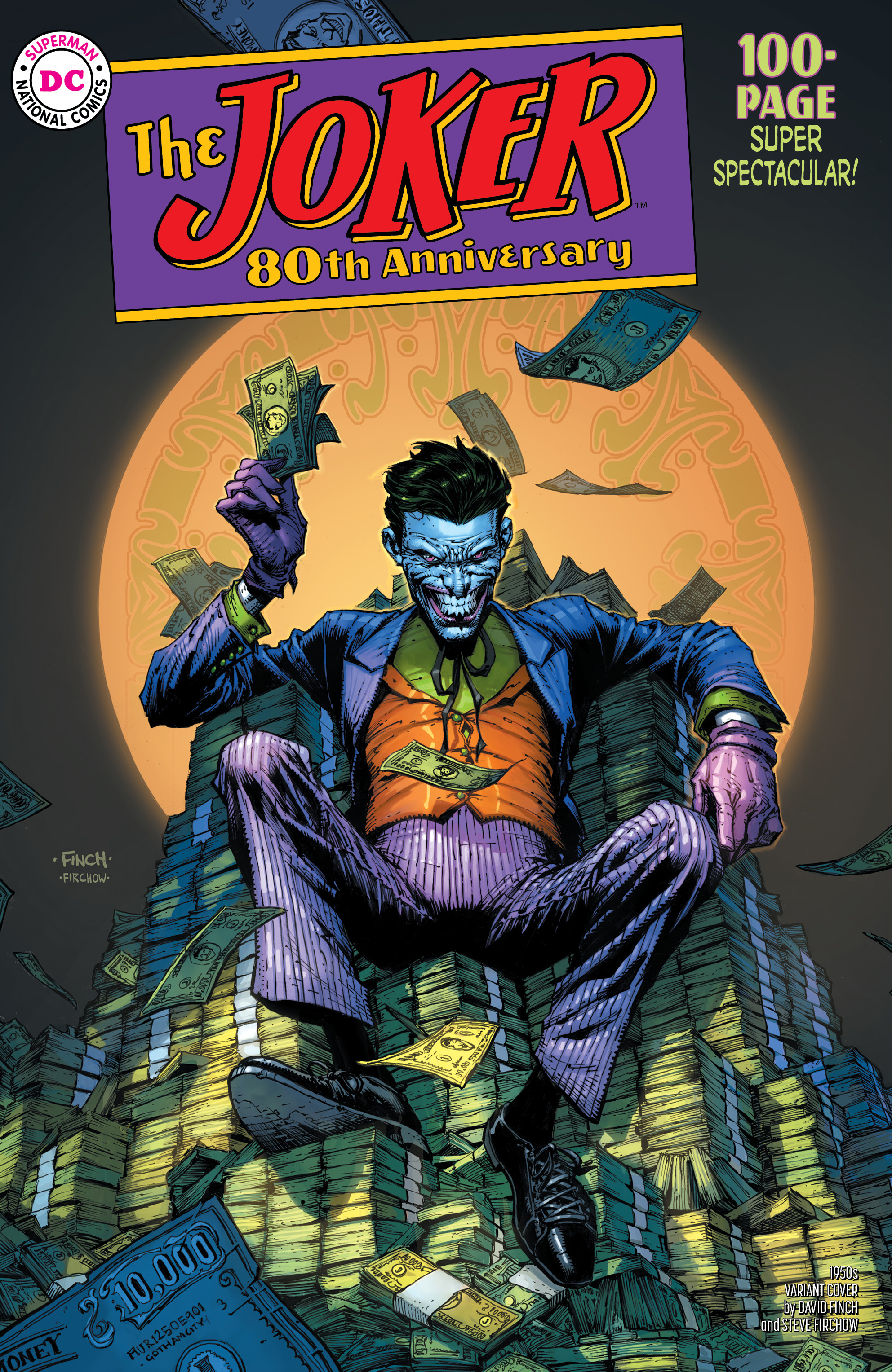 JOKER 80TH ANNIV 100 PAGE SUPER SPECT #1 1950S DAVID FINCH V