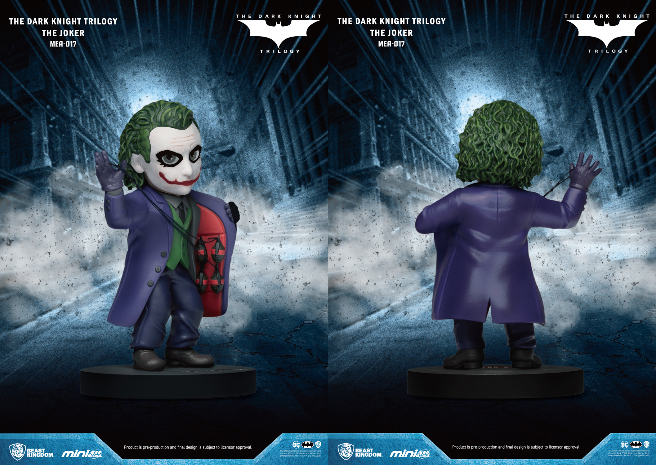 DARK KNIGHT TRILOGY MEA-017 JOKER PX FIG