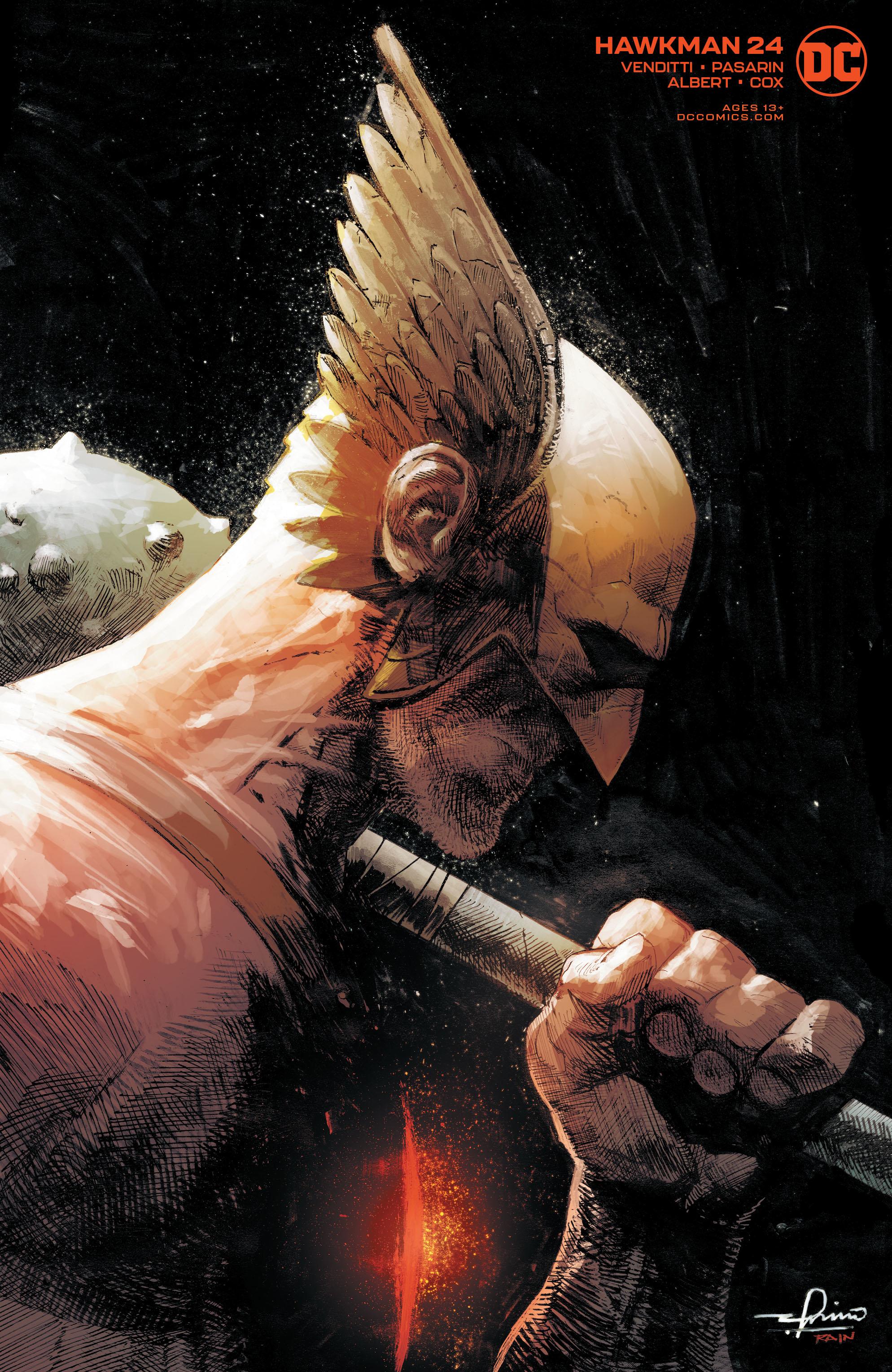 DC Comics HAWKMAN #24 GERARDO ZAFFINO VAR ED