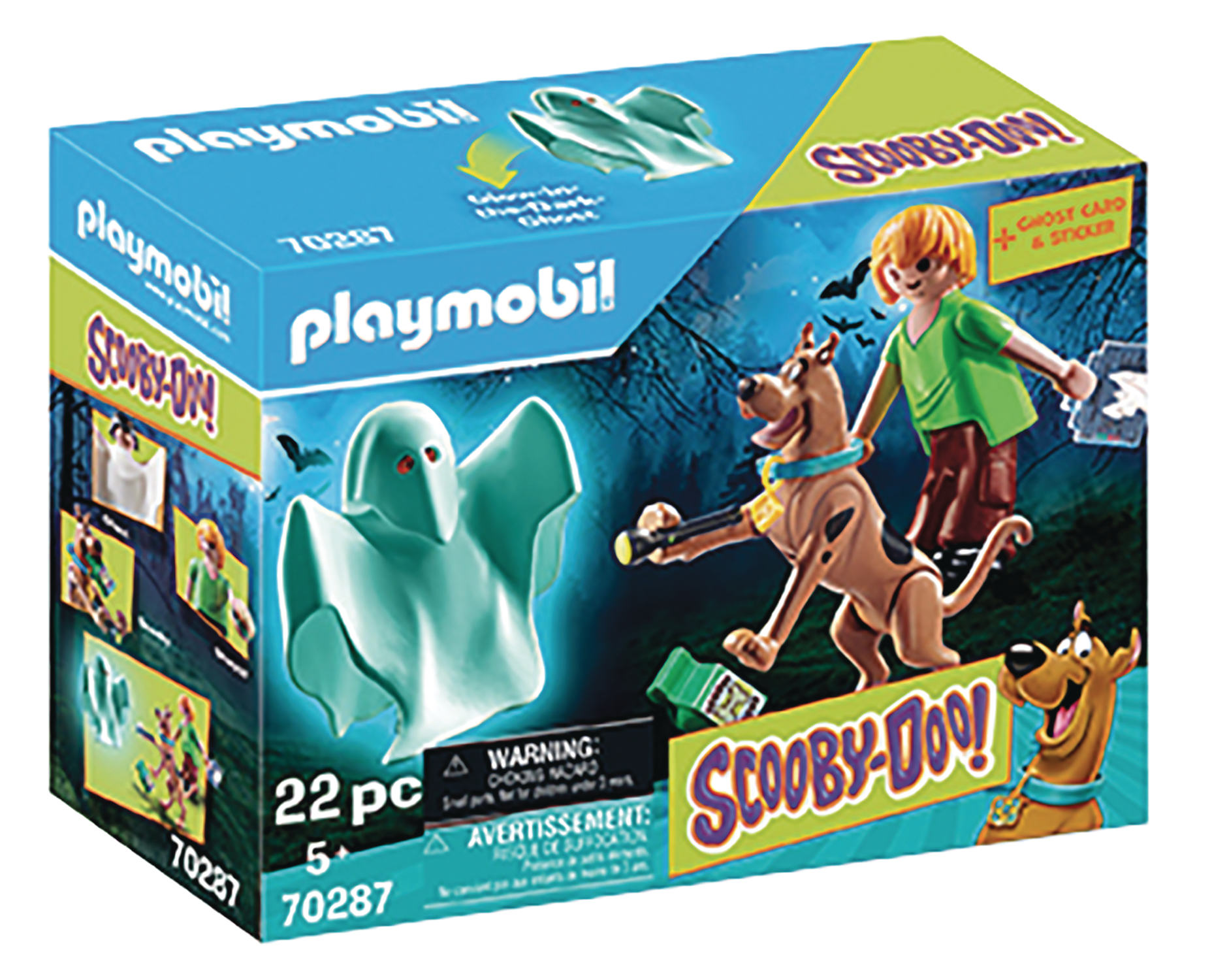 PLAYMOBIL SCOOBY DOO SCOOBY & SHAGGY W/GHOST 2PK SET  (