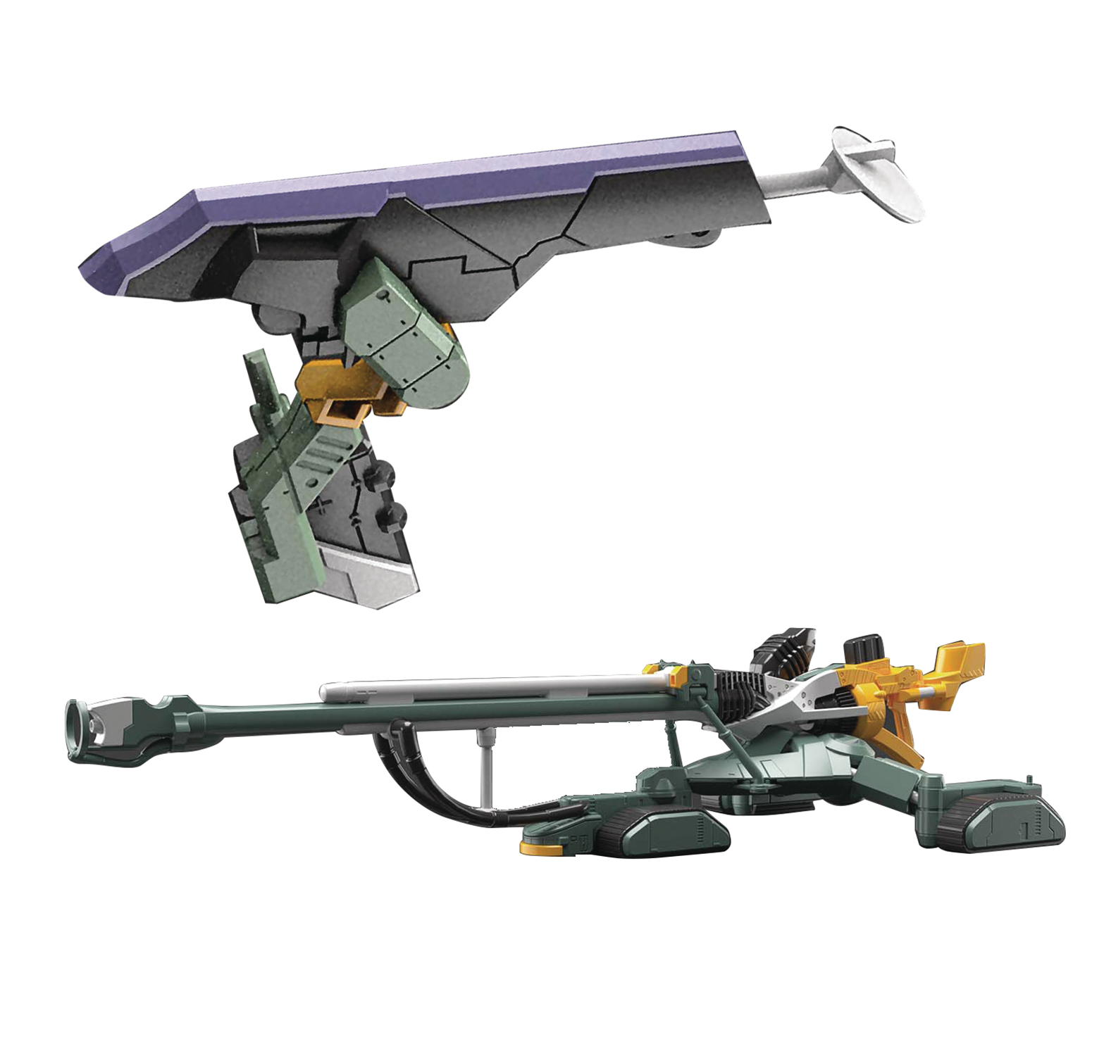 NGE EVANGELION UNIT-00 DX POSITRON CANNON SET 1/144 MDL KIT