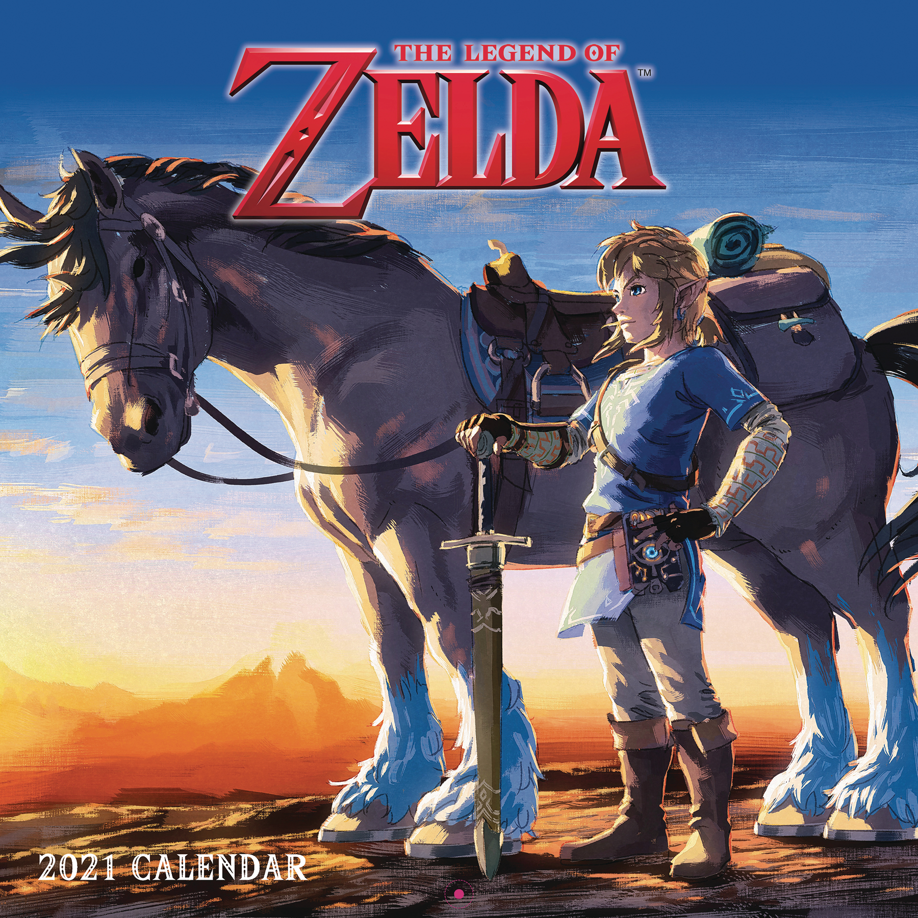 LEGEND OF ZELDA 2021 WALL CALENDAR